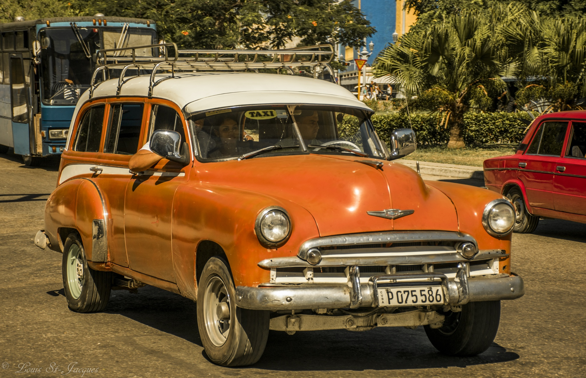 Orange old car by LouisStJacques