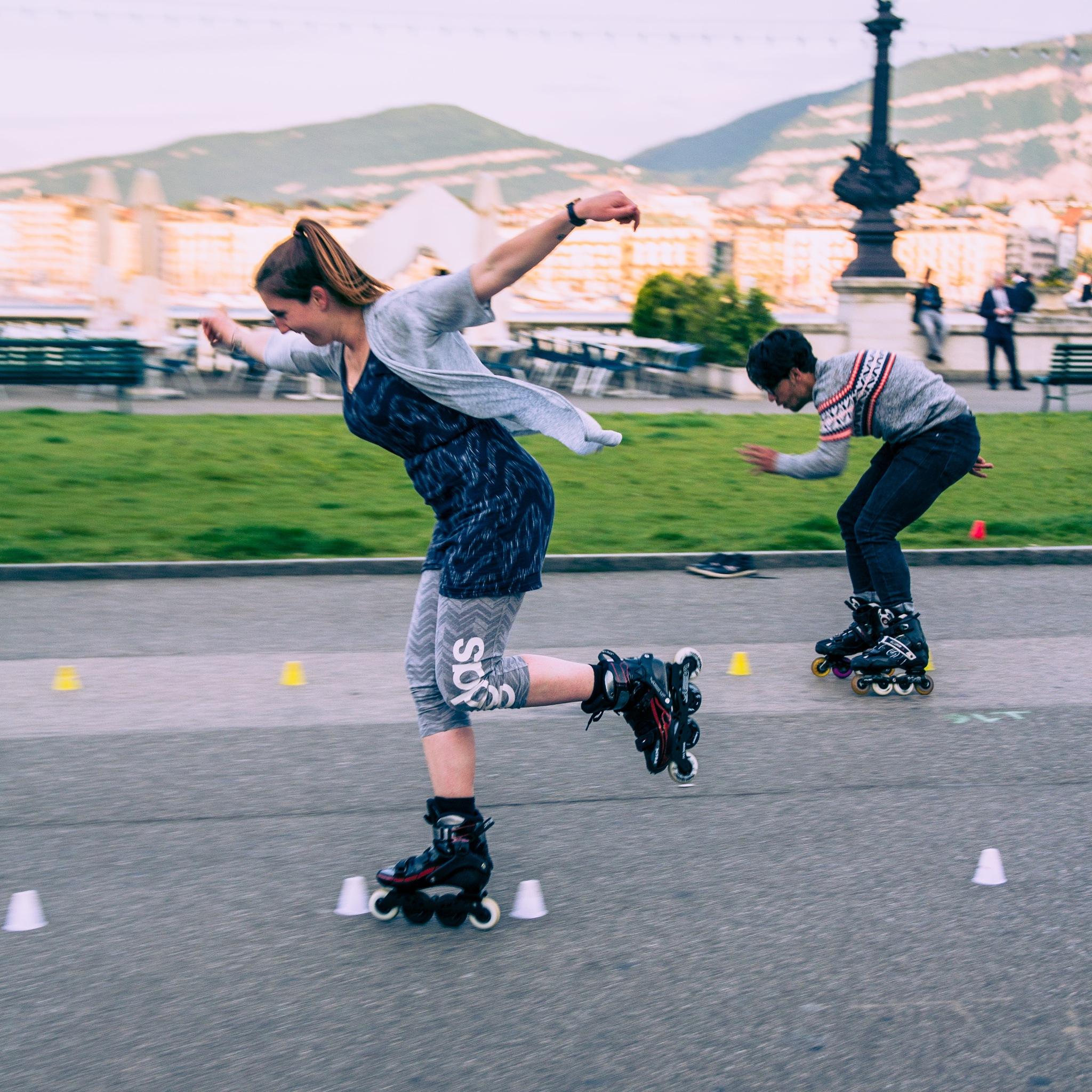 People skating by David Cantos