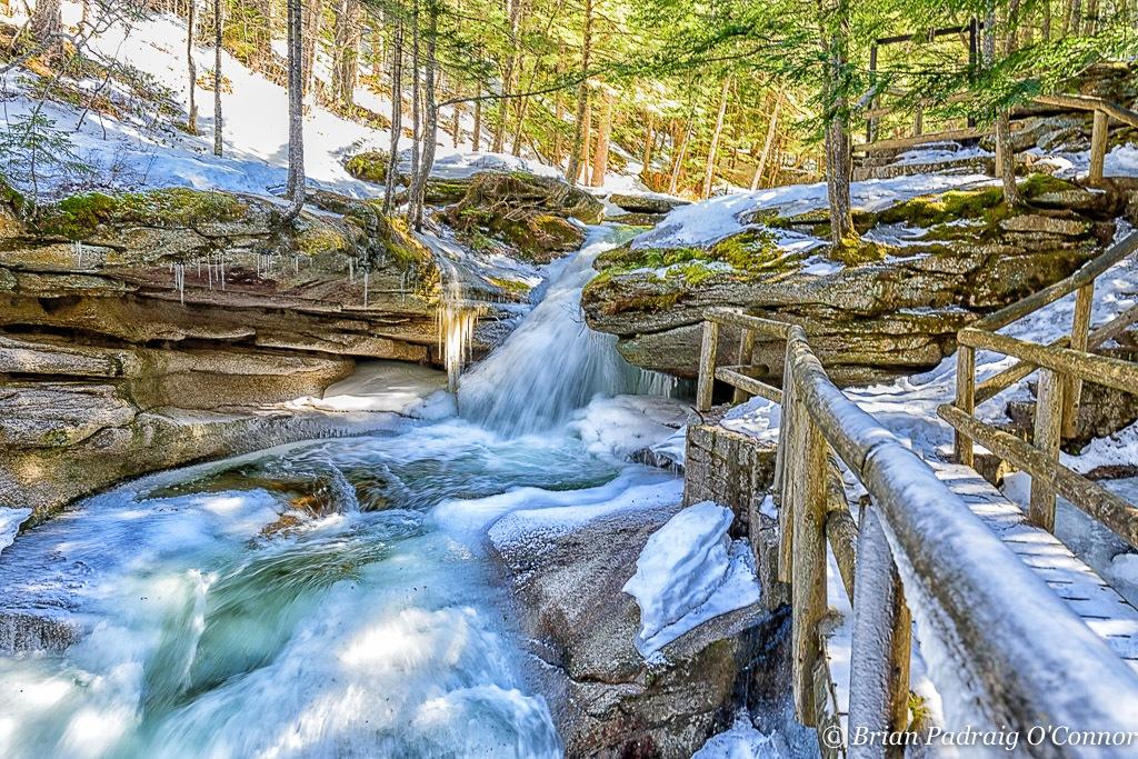 Upper Sabaday Falls by Brian Padraig O'Connor
