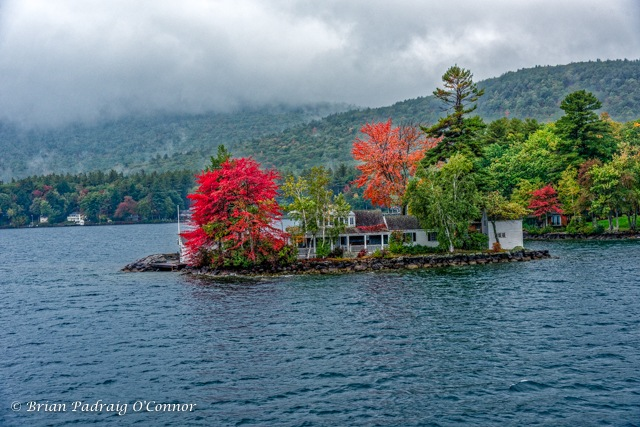 Little Island House on Winnipesaukee by Brian Padraig O'Connor