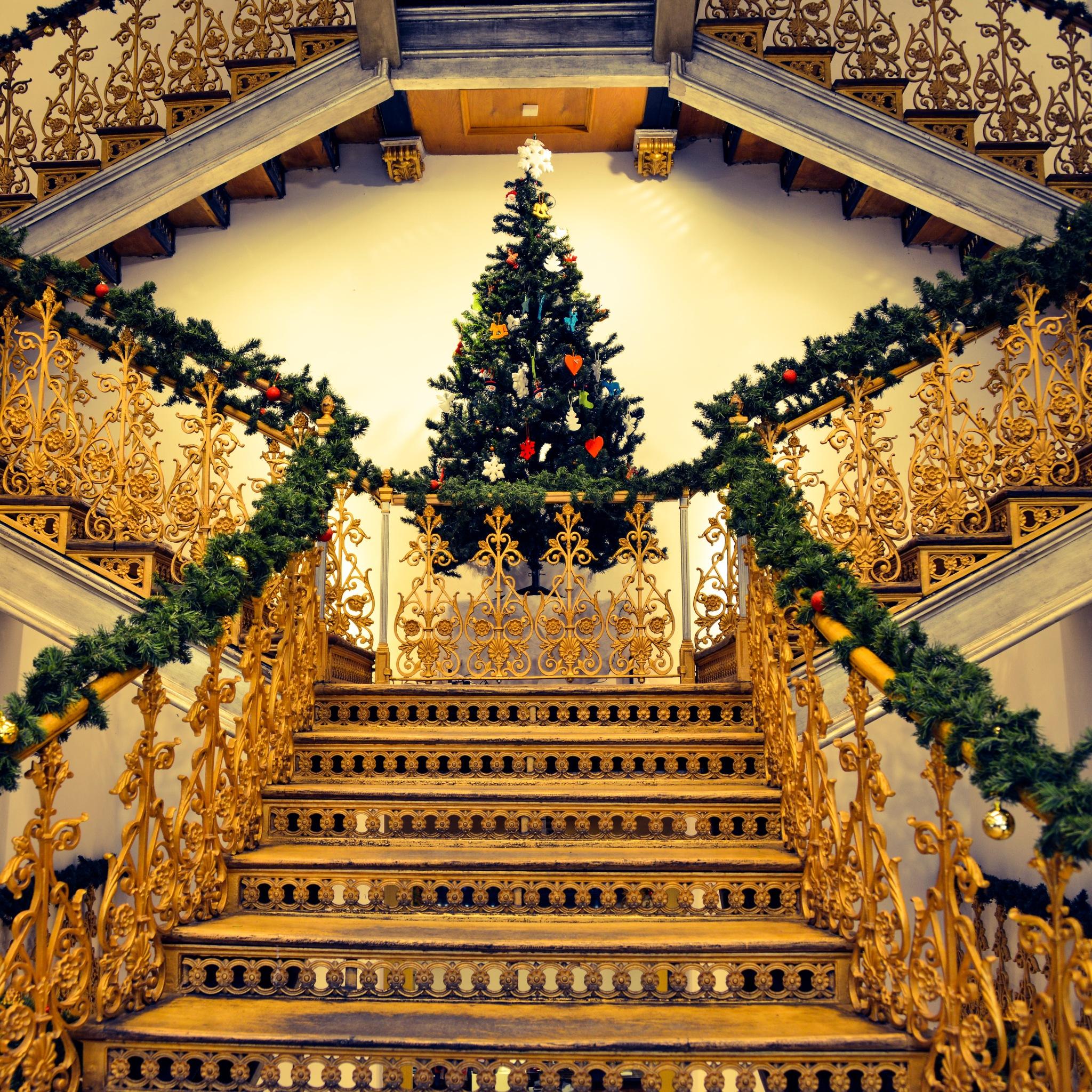 Xmas stairs  by Nik Phot