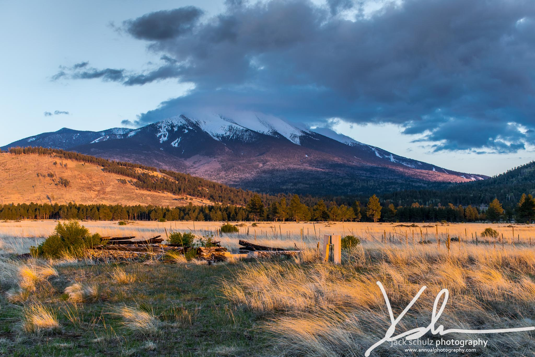 Snow capped majesty at sunset by jschulzphotography