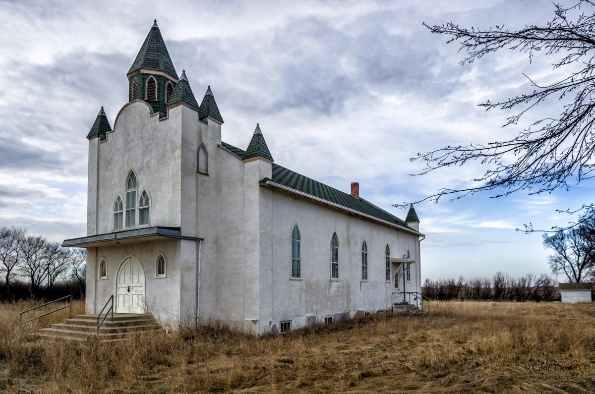 Arelee Mennonite Brethren Church (1 of 2) by Glen Bowe