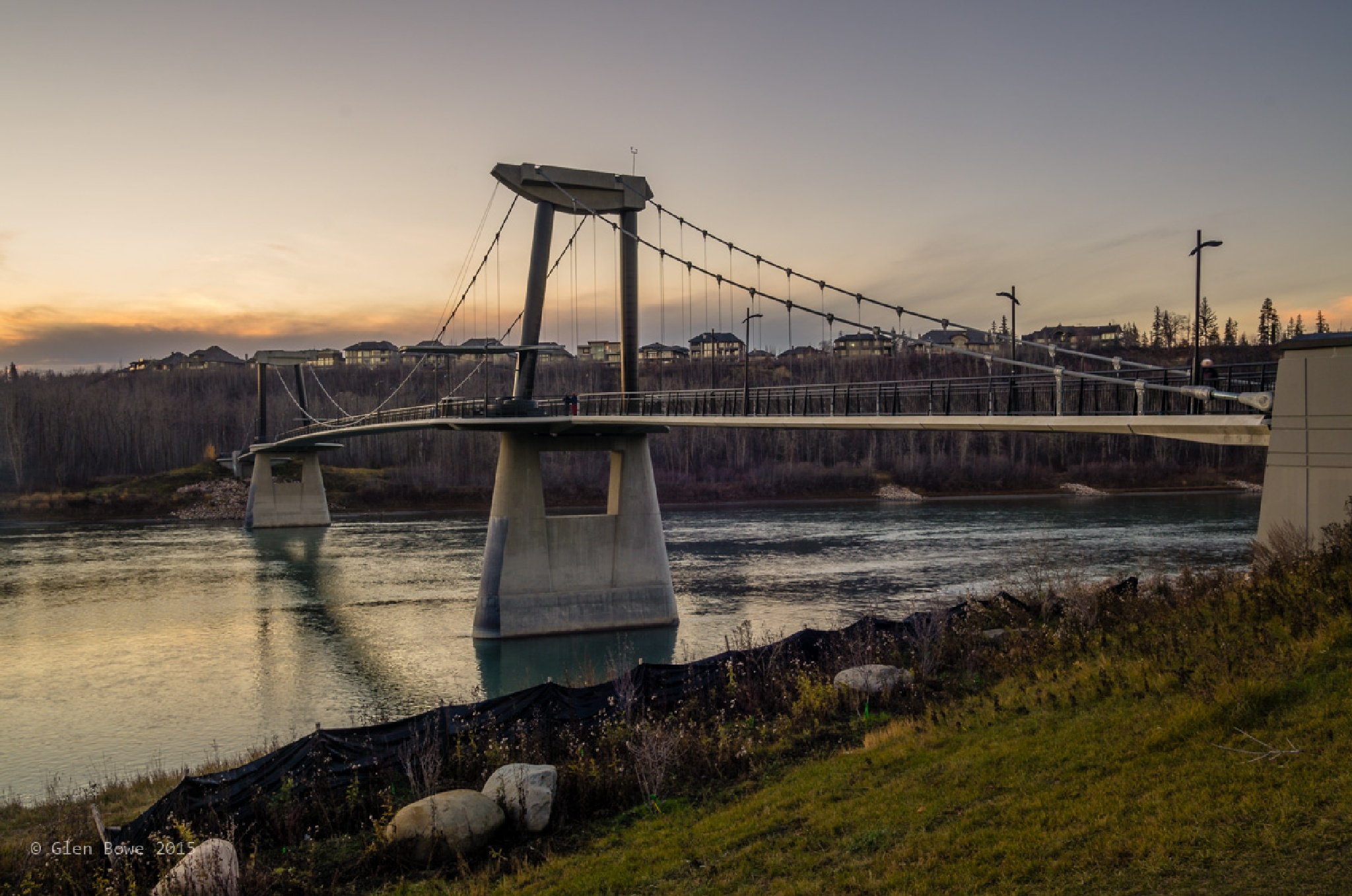 The Bridge in the Golden Hour by Glen Bowe