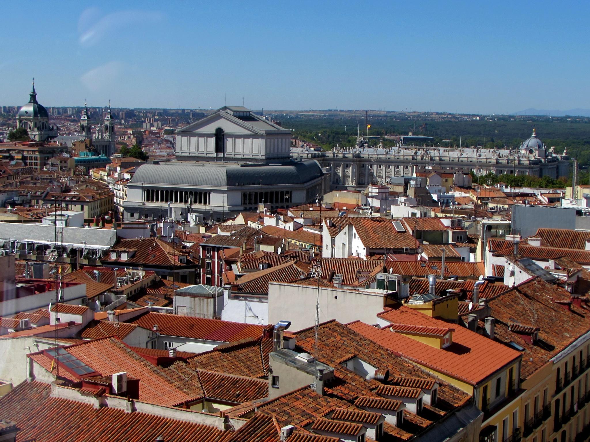 Madrid roofs by Isabel Gonzalez Martil