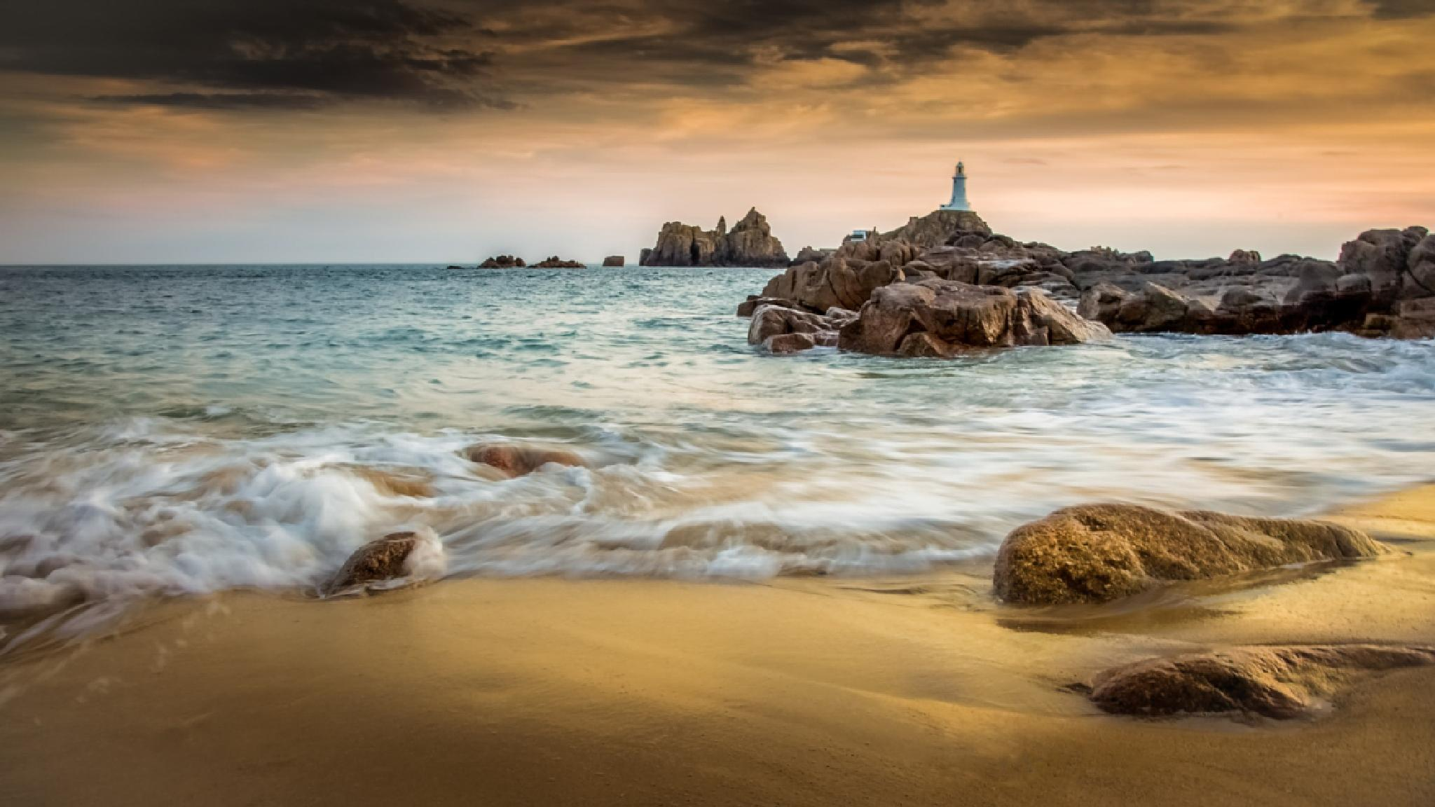 Corbiere Light House by Thierry Fillieul