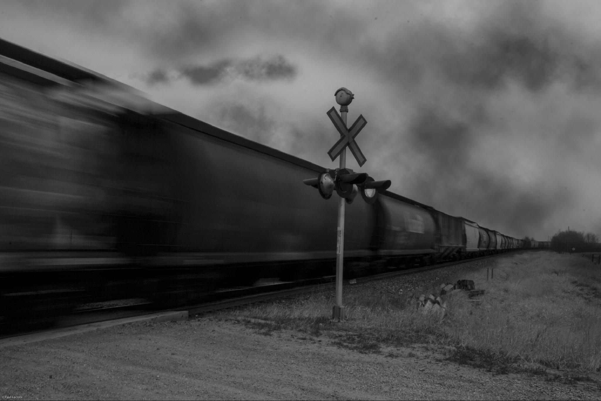 Night train by Paul J Lacroix