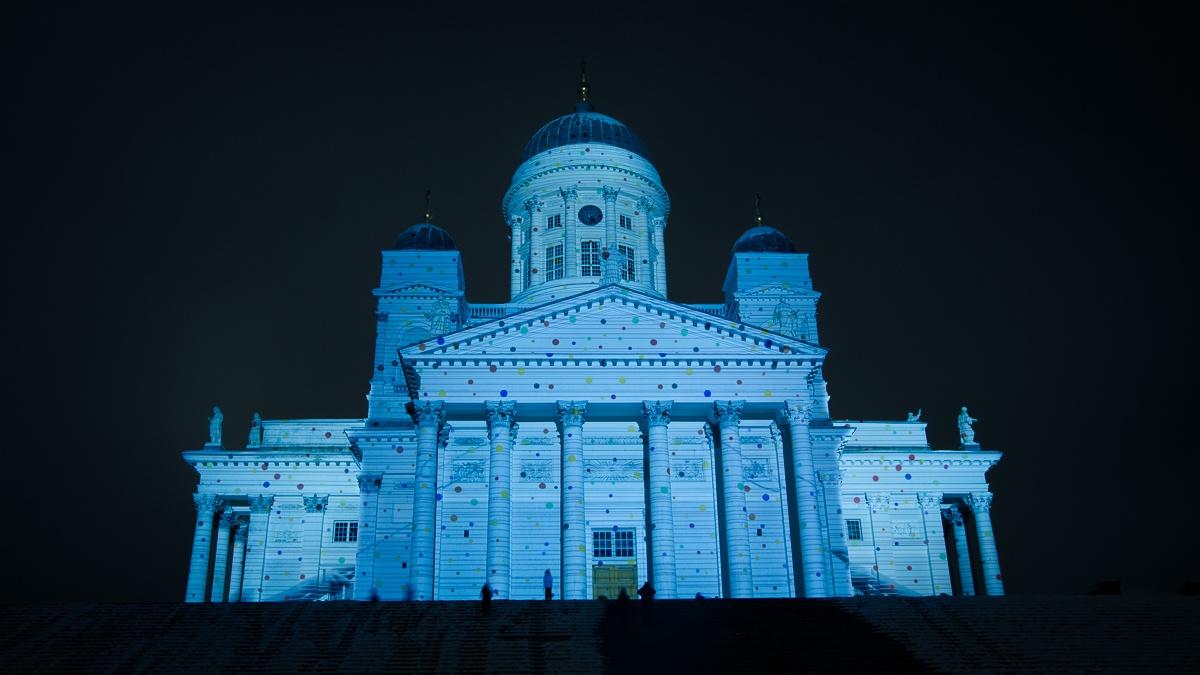 Helsinki Cathedral in polka dot by Dmitriy Viktorov