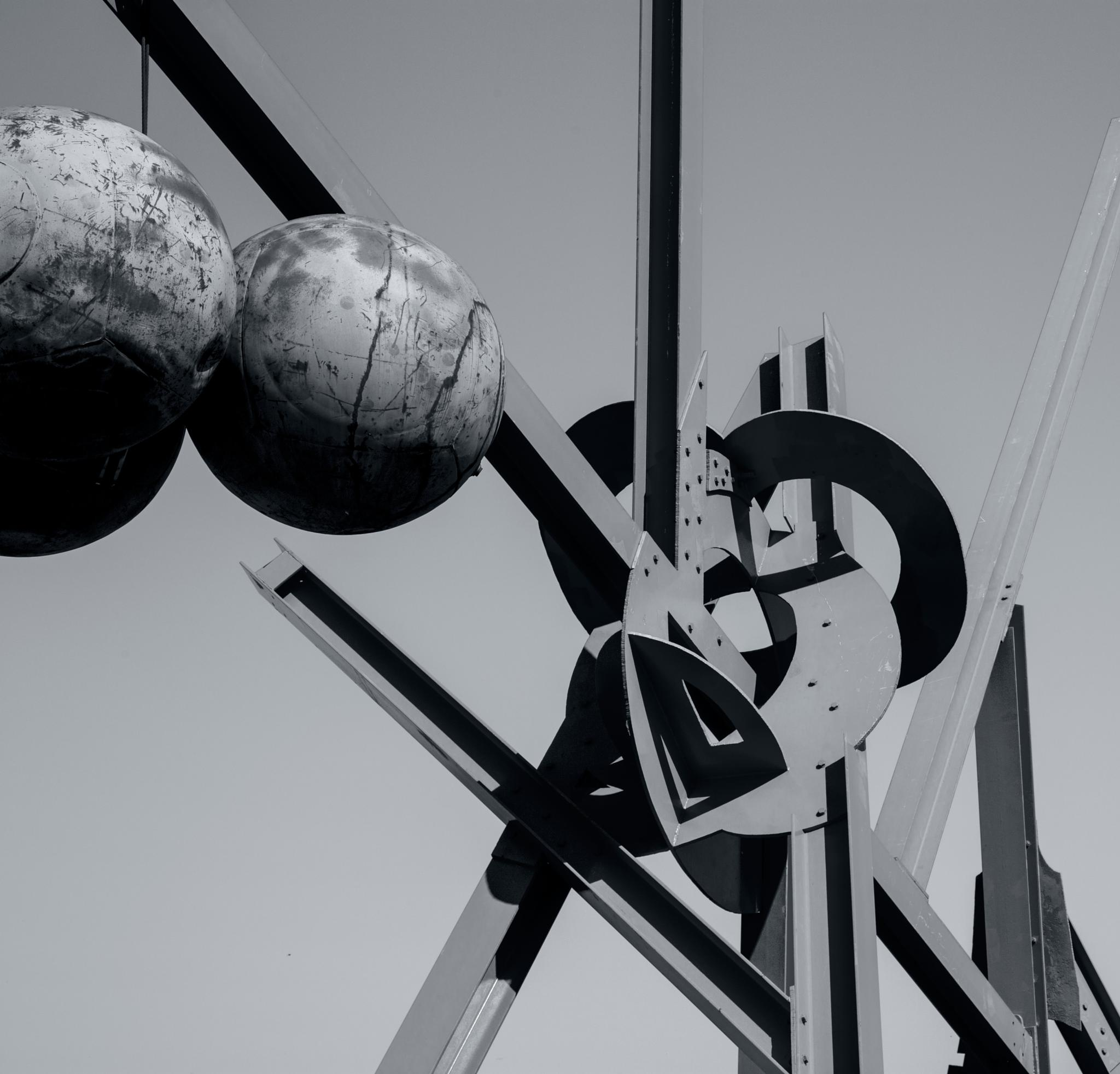 Iron Sculpture - Steel Balls by mike hope