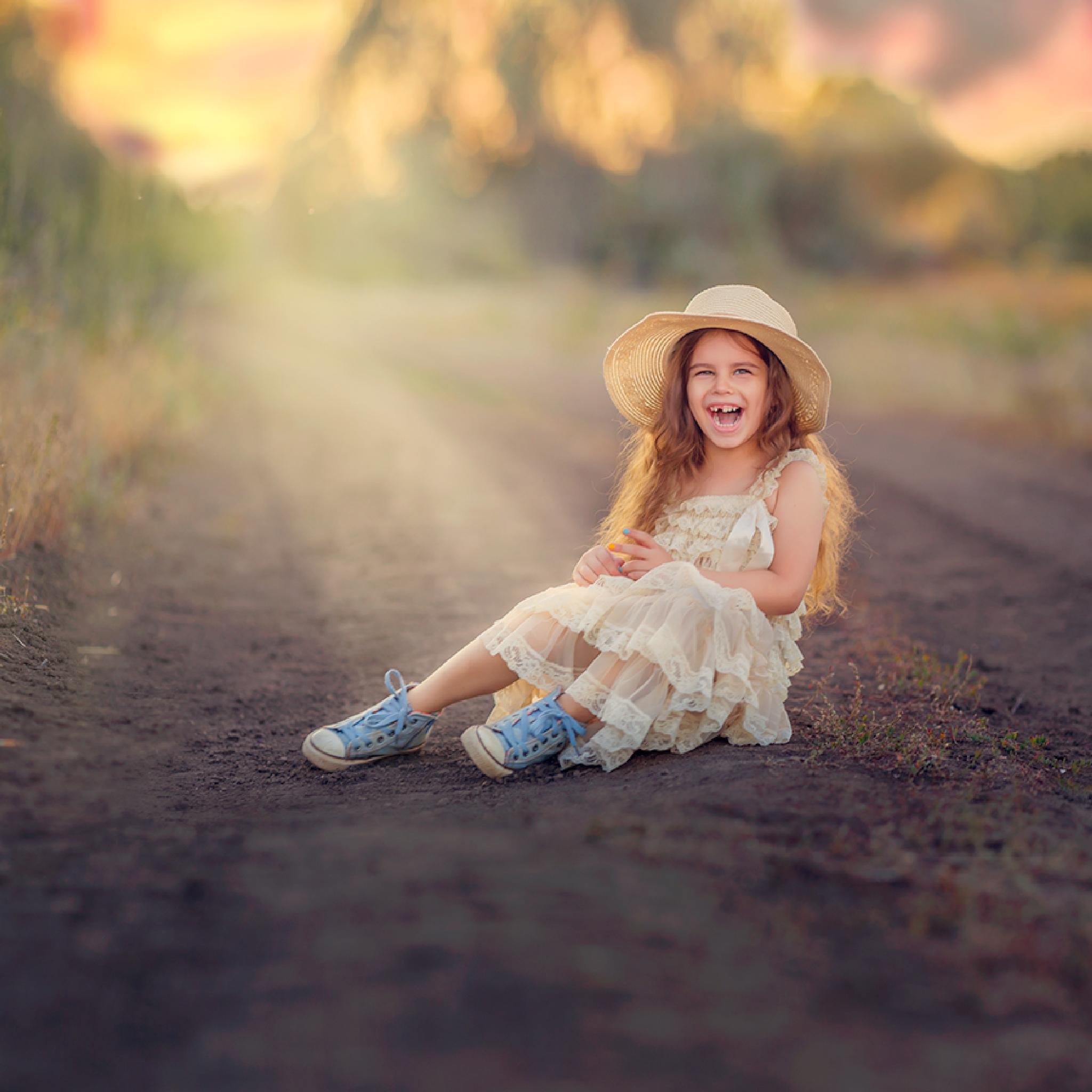children's laughter by Olga Moskaltsova