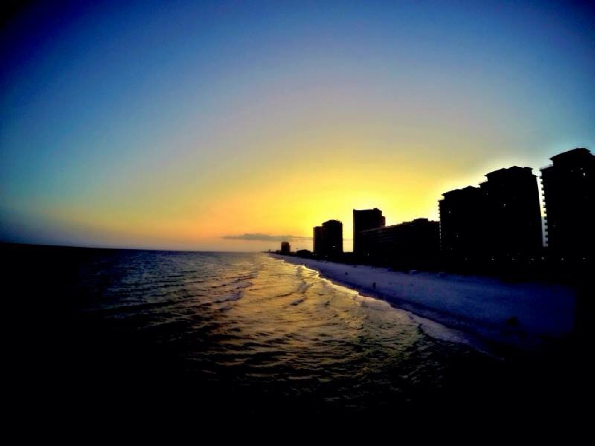 Sunset Navarre beach Florida  by Lisa BluWolf Sahani