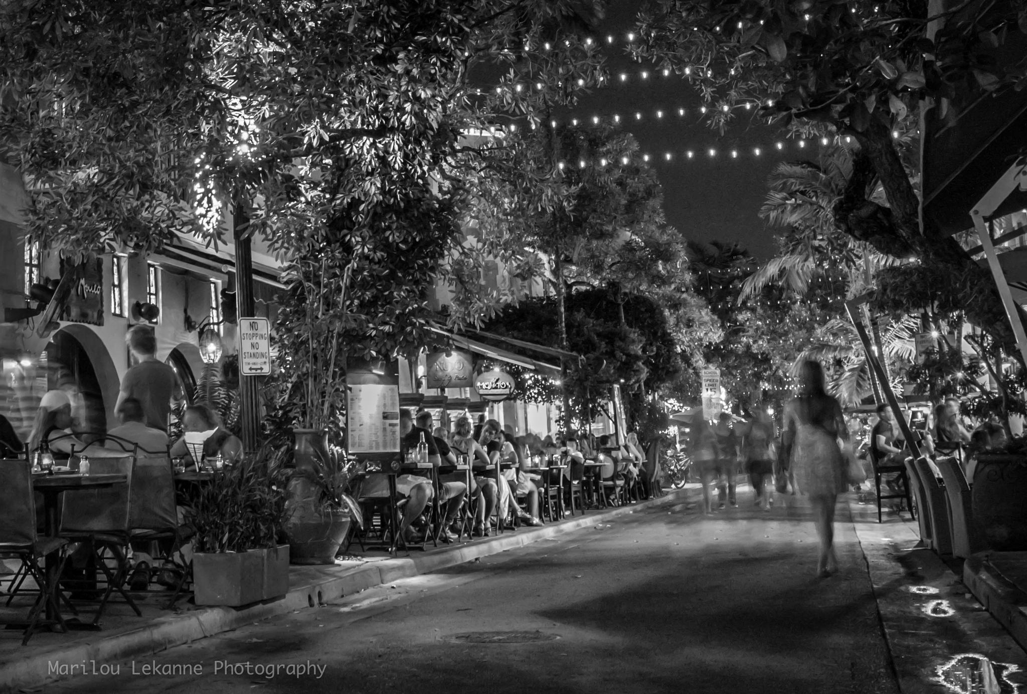 Española Way at Night by Marilou Lekanne