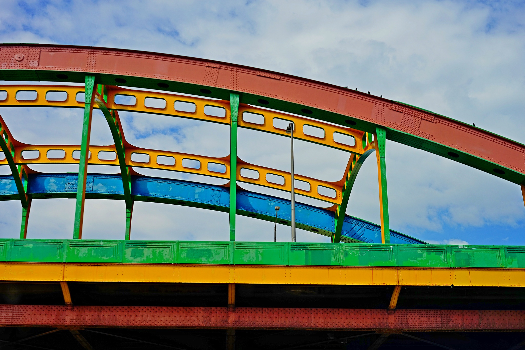COLORFUL INTERSTATE HIGHWAY BRIDGE CROSSING by ColoursPhotography