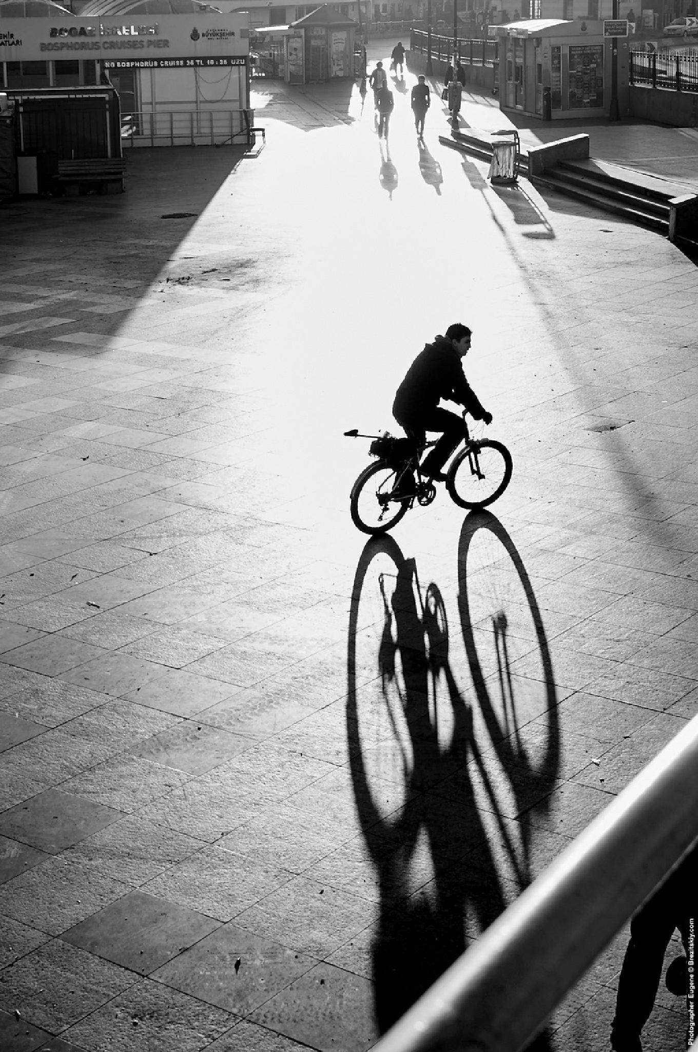 Cyclist by Eugene Brez