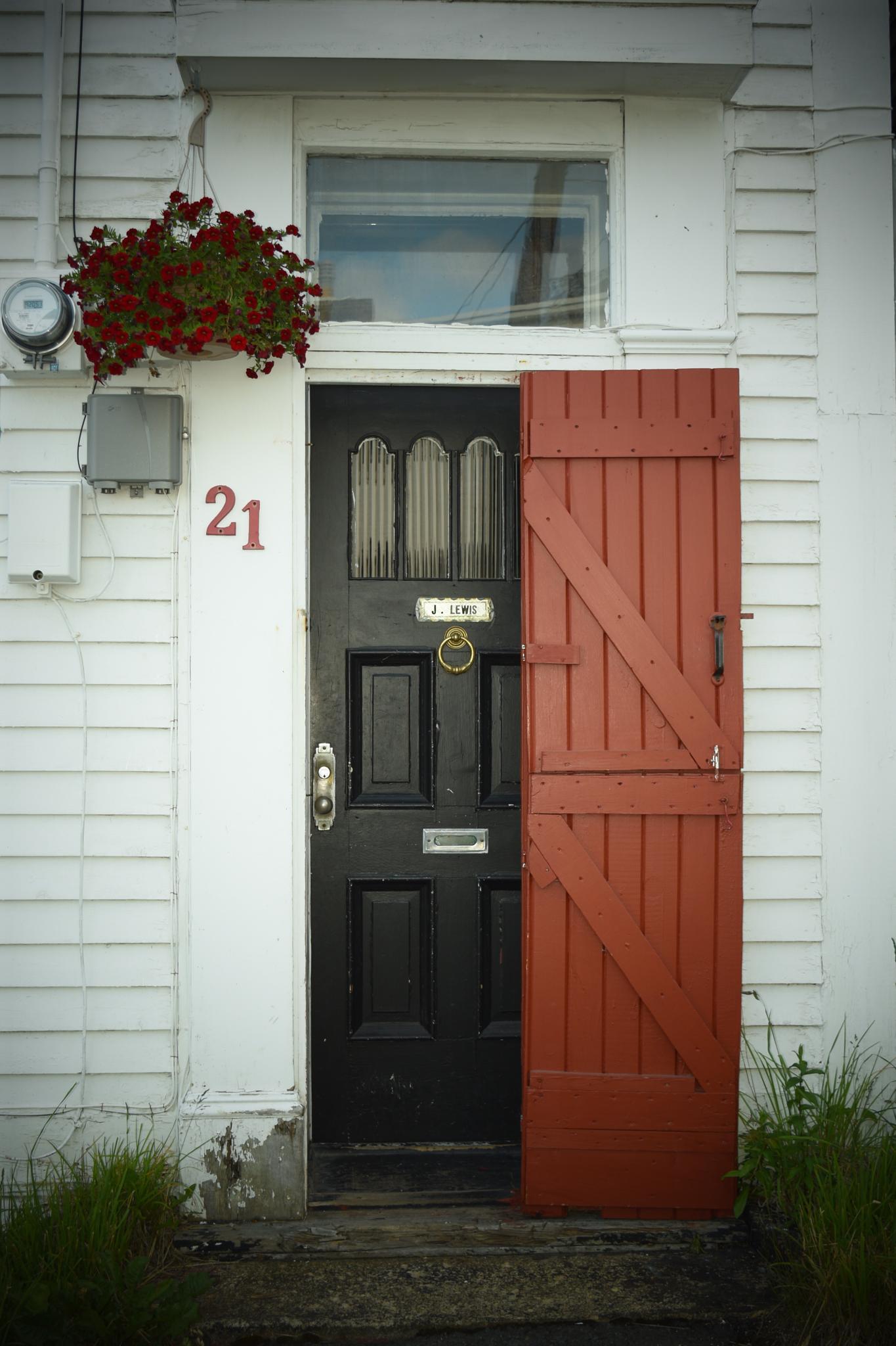 Red door by Jennifer Hassinger