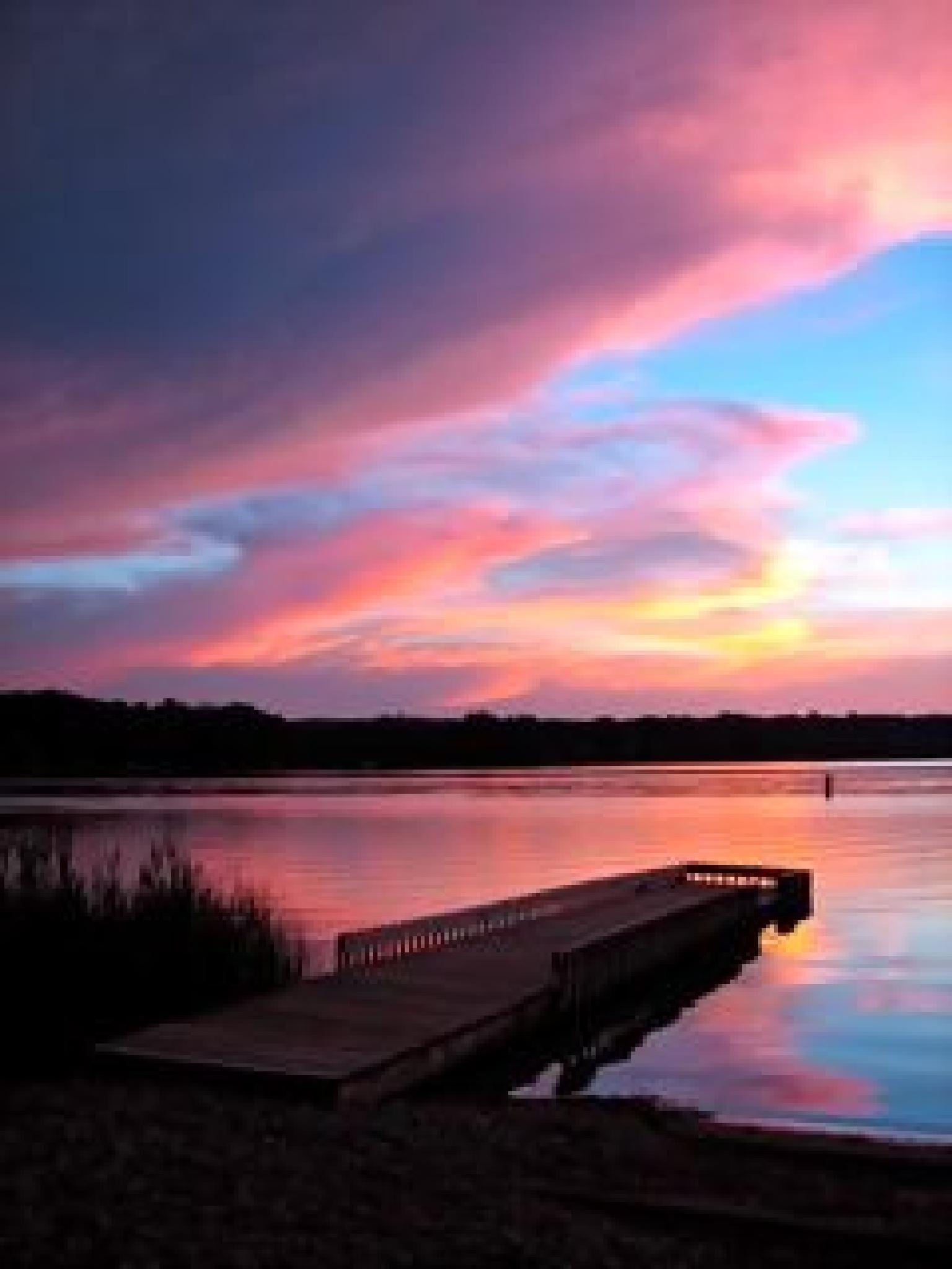 Sherbet Sunset by Linda Martin-Seng