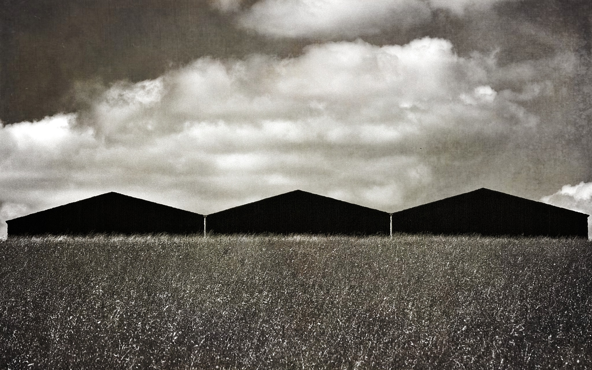Black Sheds In Black & White by Keith Patrak