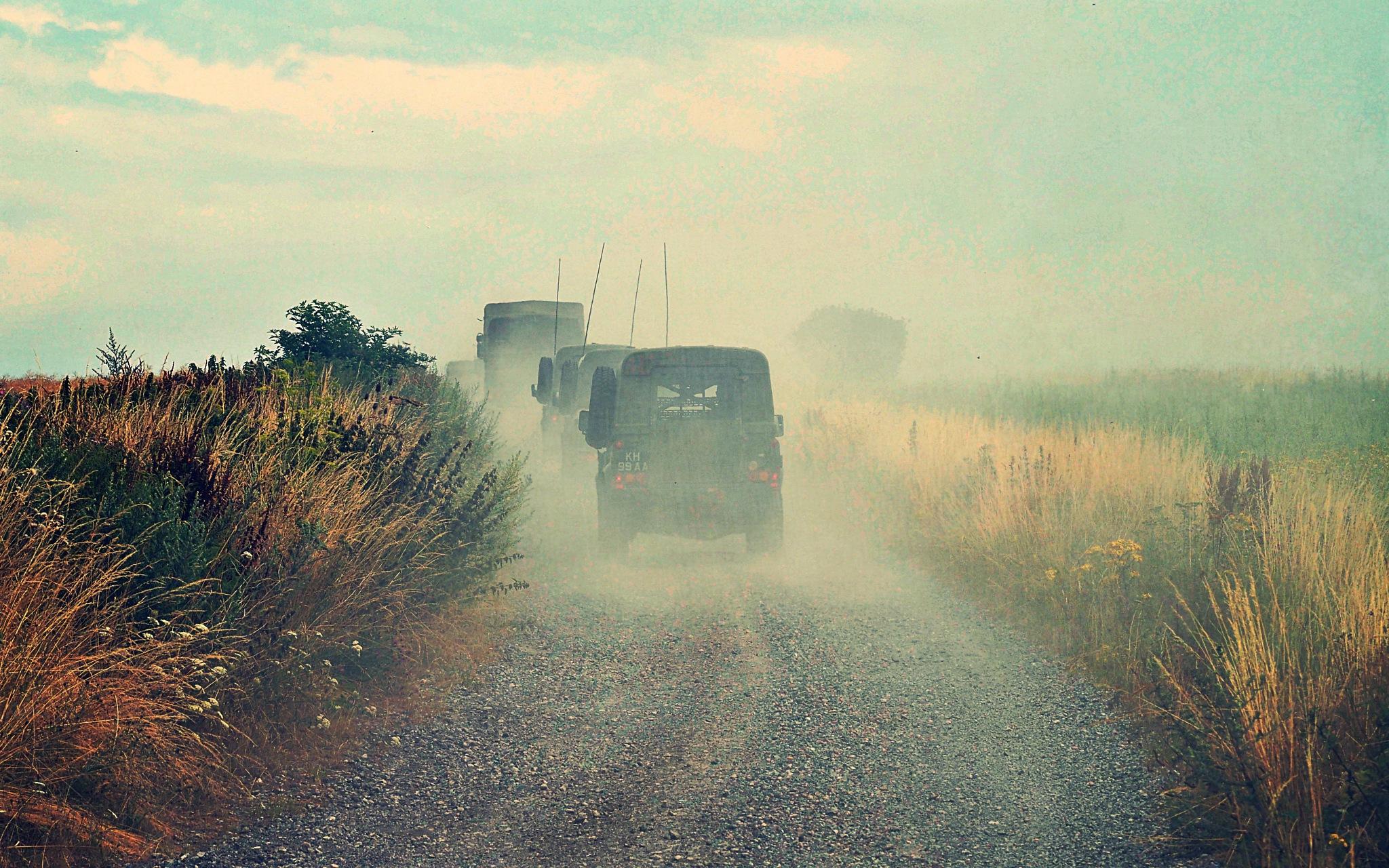 Army Dust Cloud by Keith Patrak