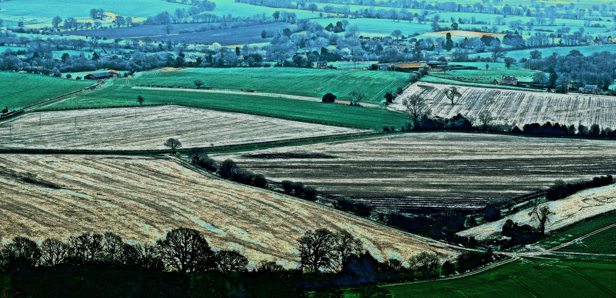 Shapes and Patterns - Sunny Hill, Wiltshire by Keith Patrak