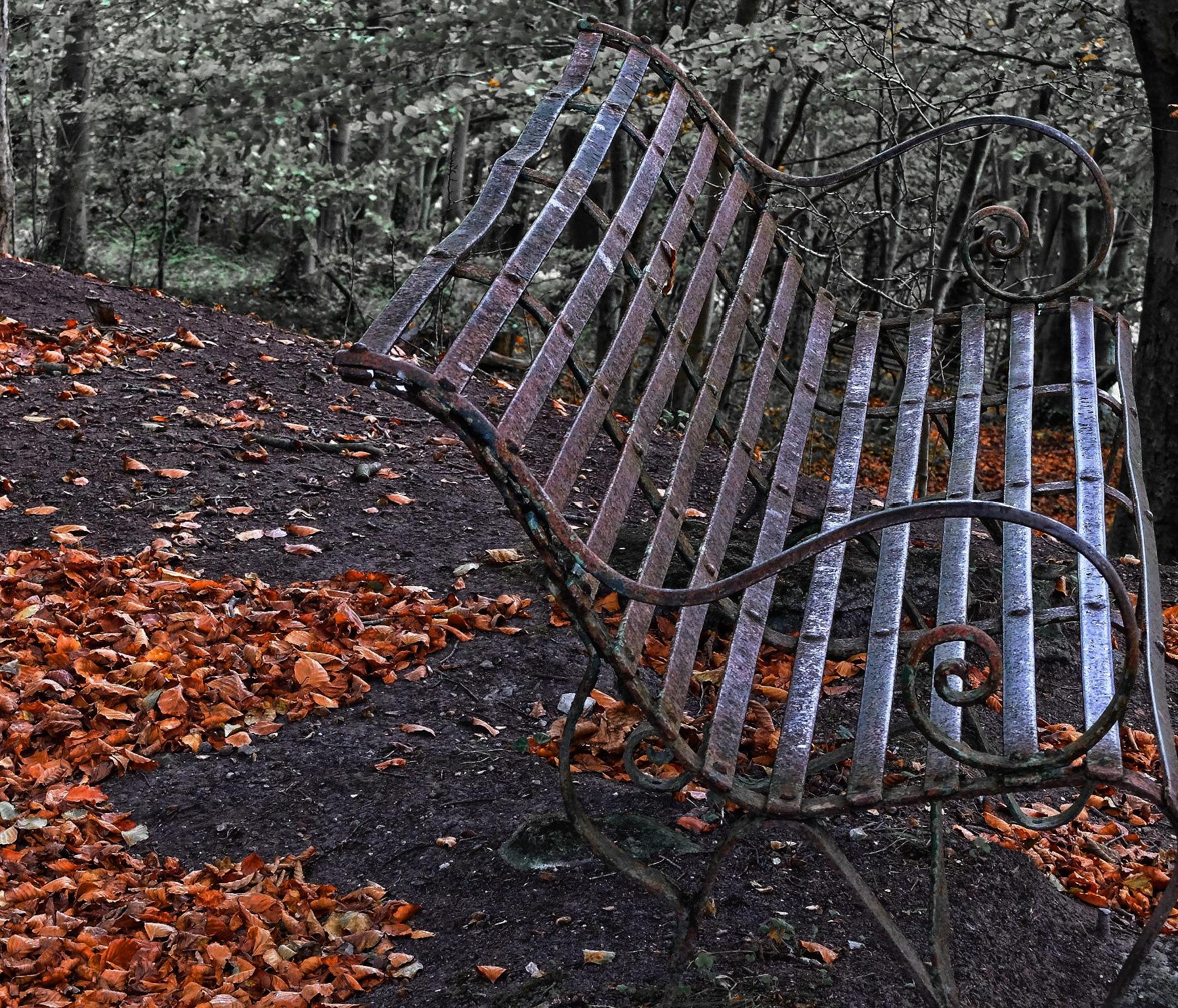Rusty Bench by Keith Patrak
