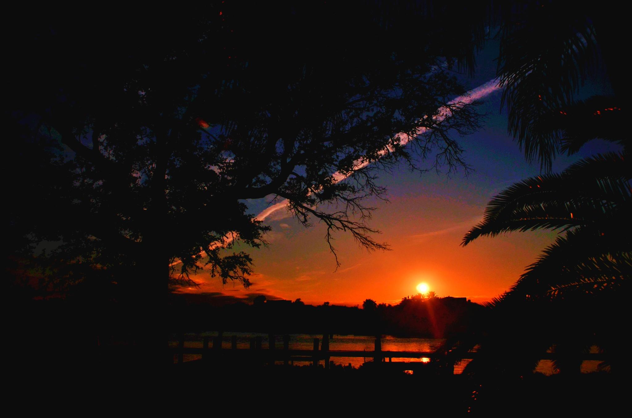 clear lake sunset by Bob Agan