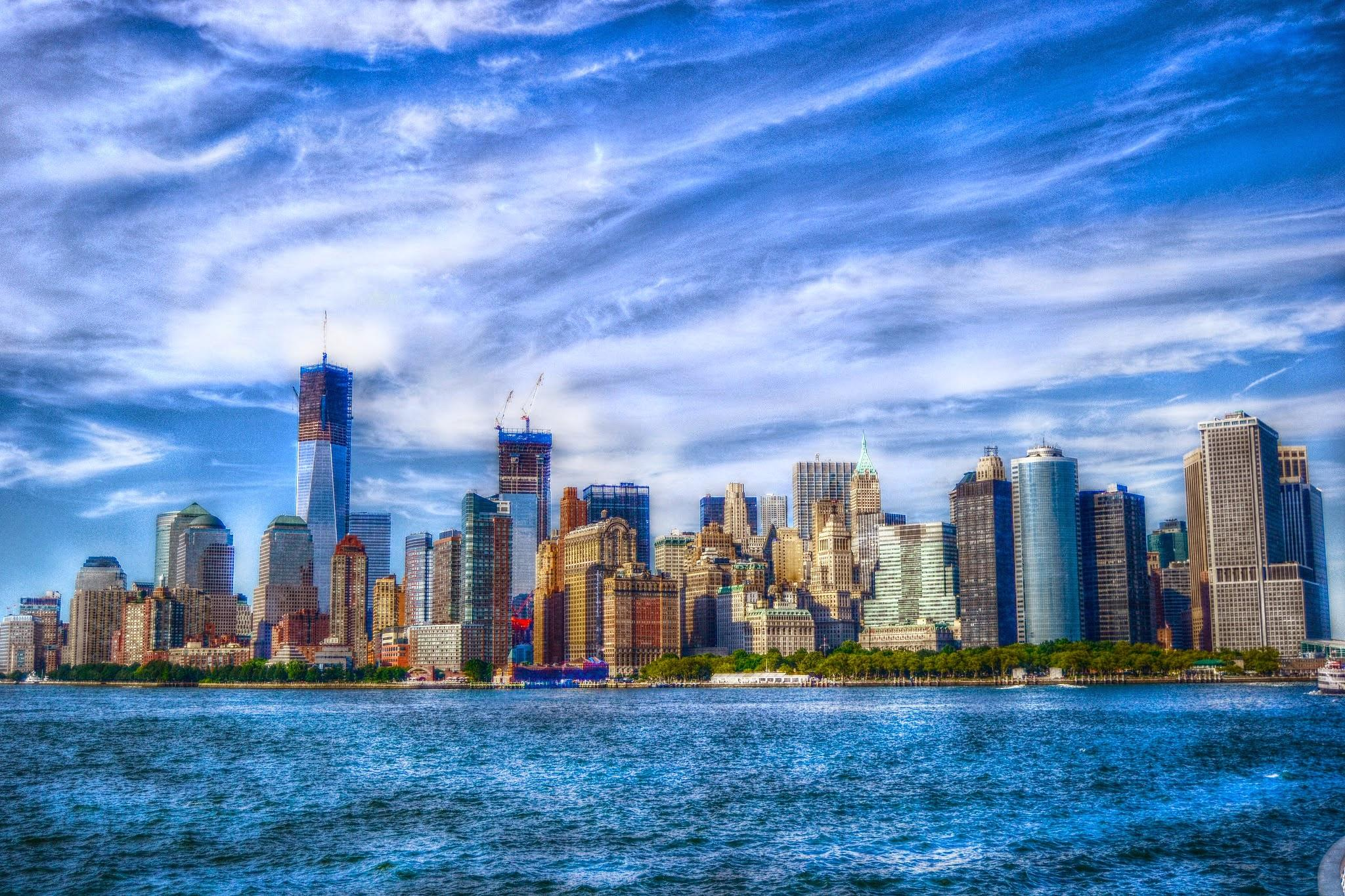 NYC Skyline from Liberty Island by Andrea Scotti