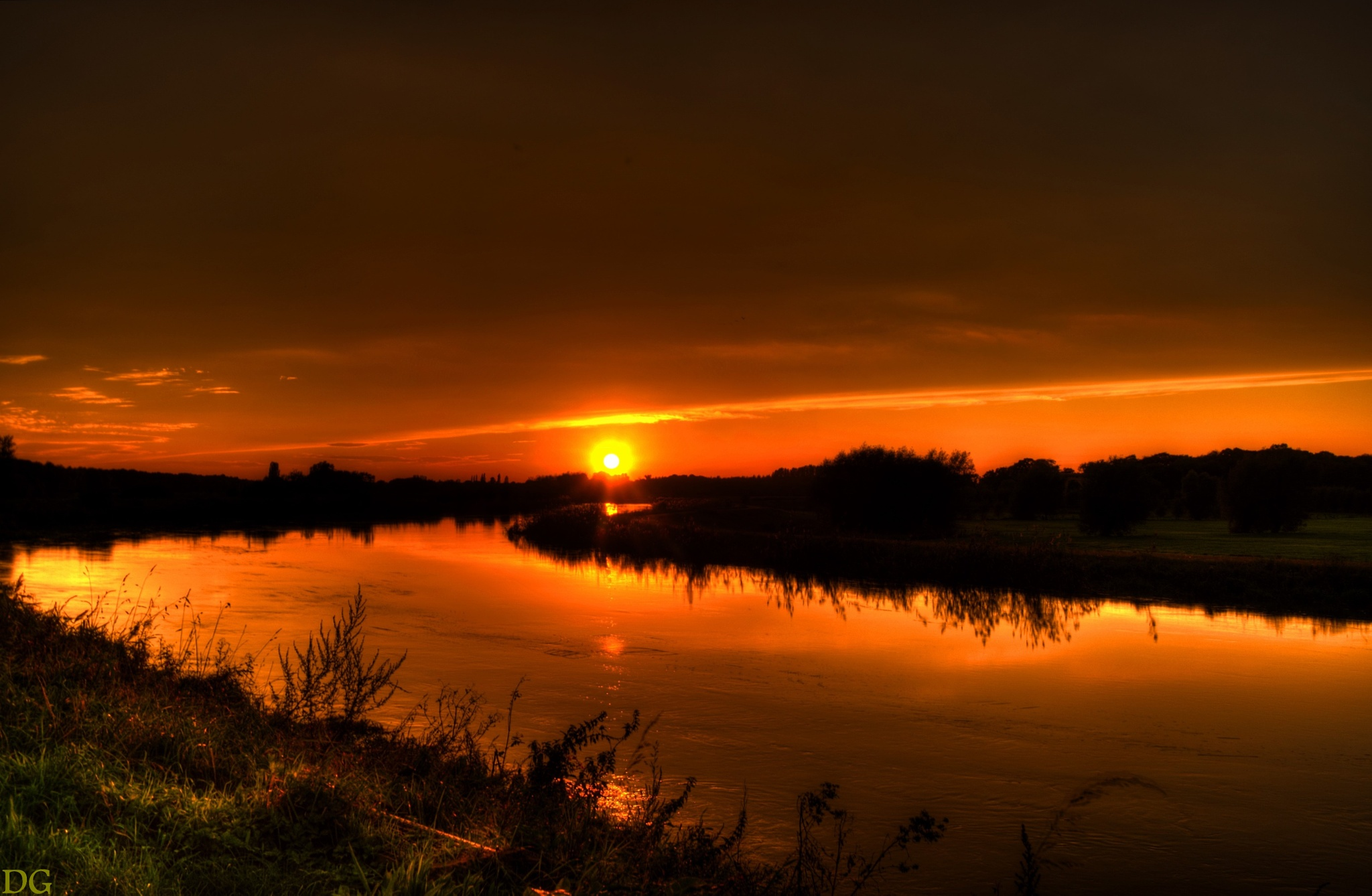 Sunset. by Dirk Gonthier