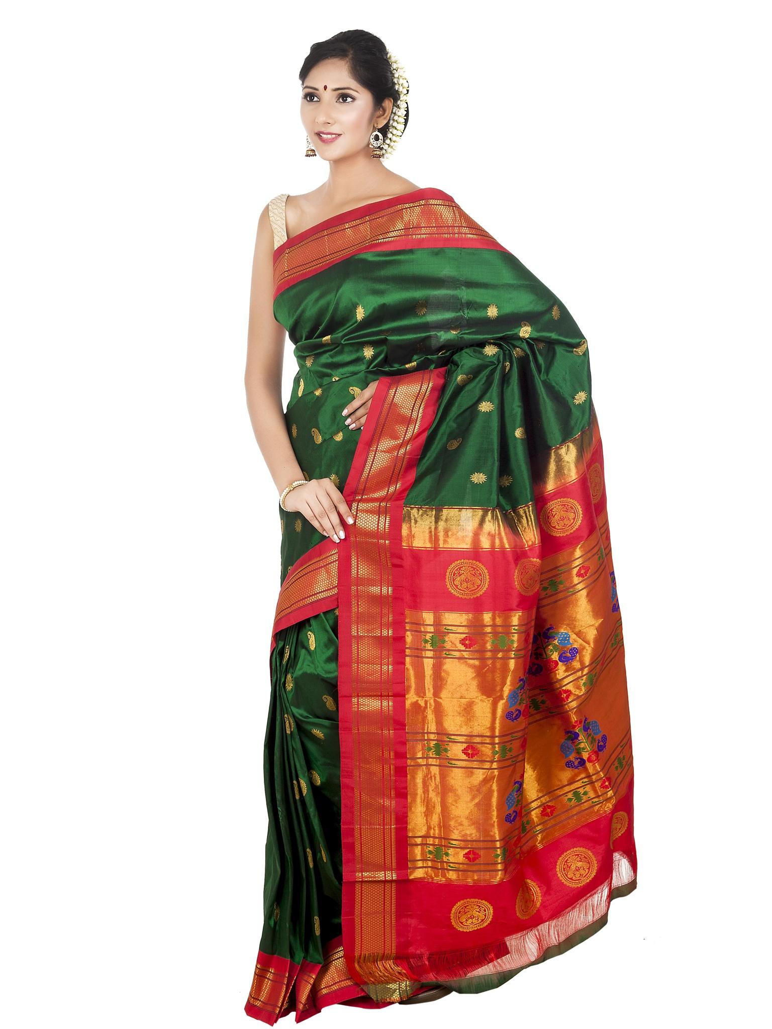 Handloom silk paithani sarees online by onlypaithani