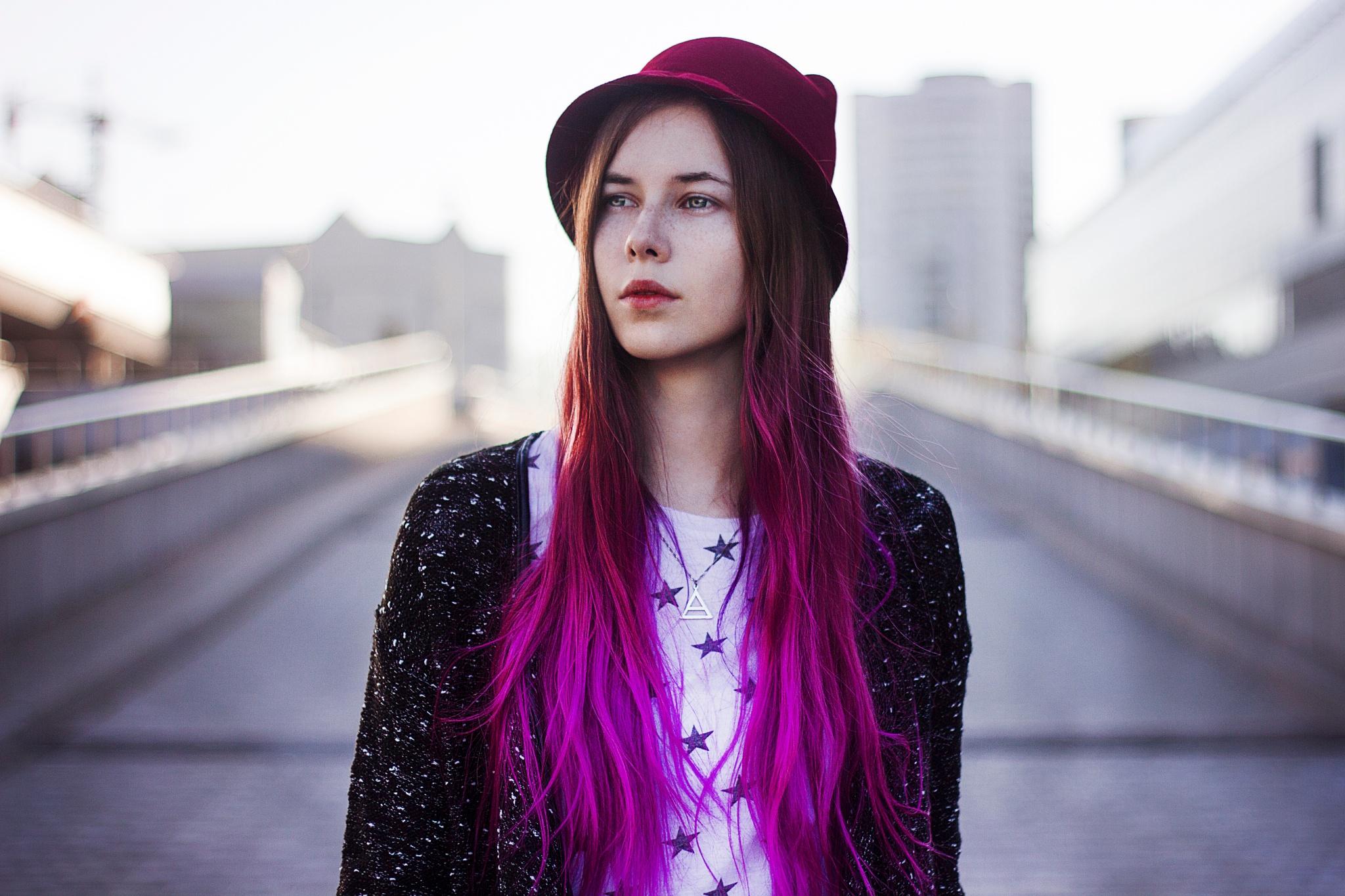 Photo in Portrait #portrait #pink #girl #sun