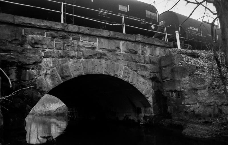 Train Traffic on Bridge by Dan Dabson