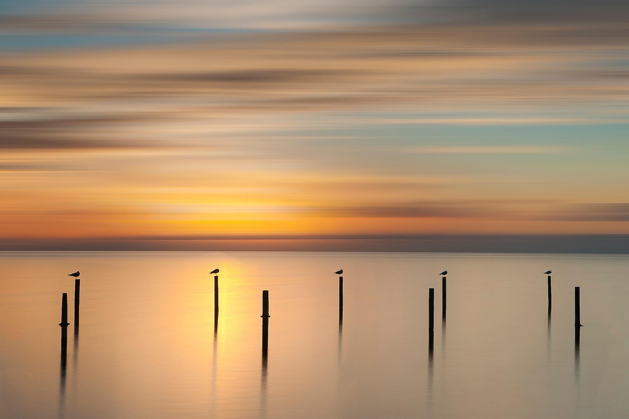 Sunset........ by Piet Haaksma