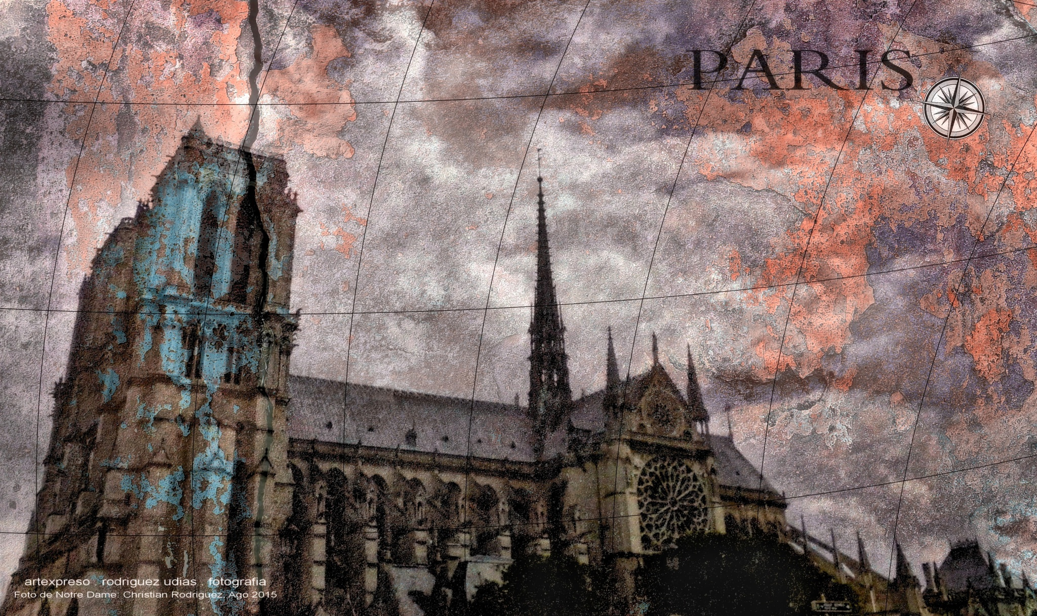 Notre Dame . Paris / Artexpreso 2015 .. by  Artexpreso
