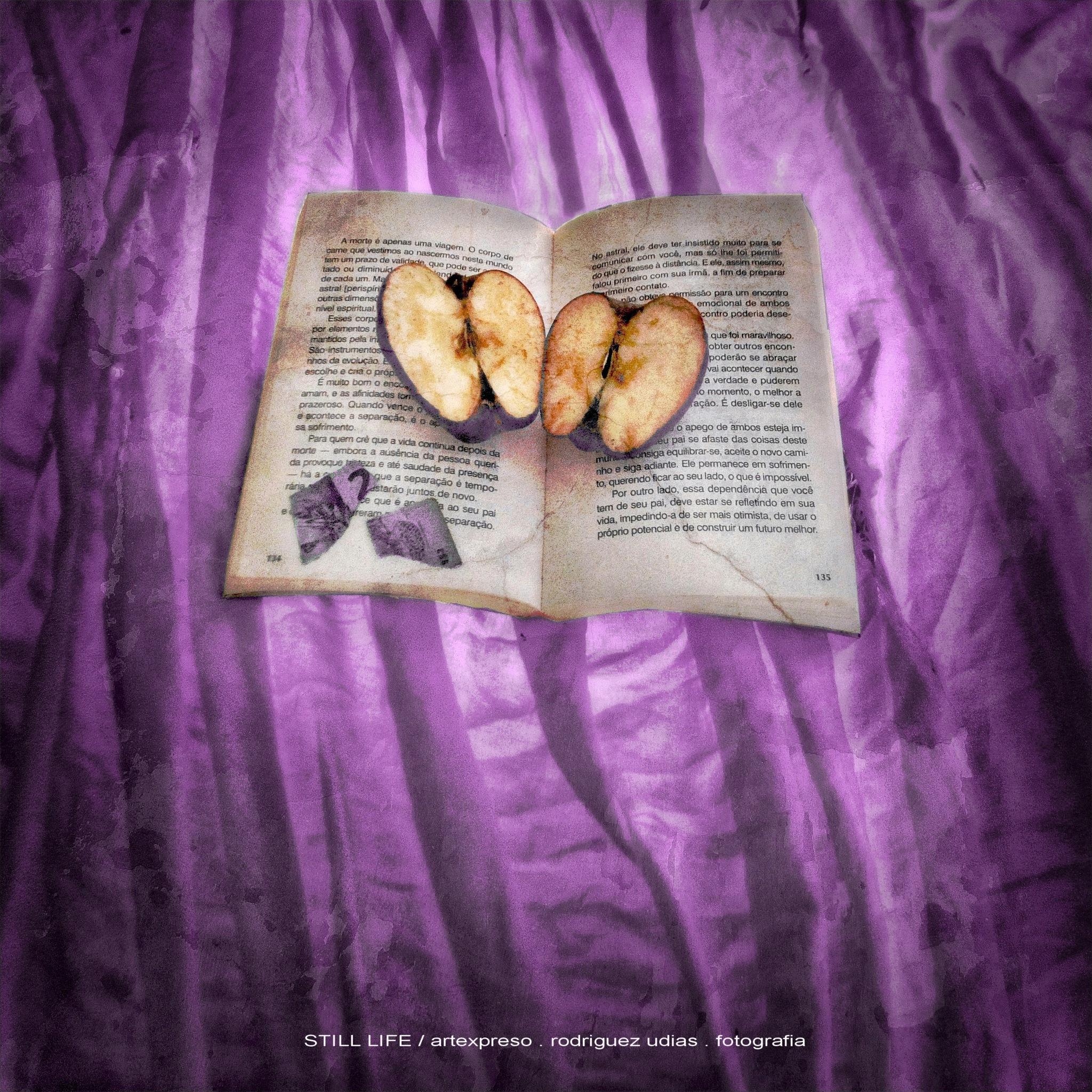 STILL LIFE . APPLE & BOOK / ARTEXPRESO 2018 by  Artexpreso