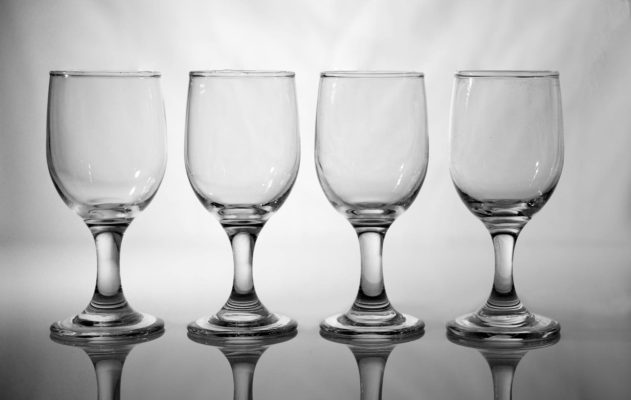 Glasses, all in a Row by Gra'M