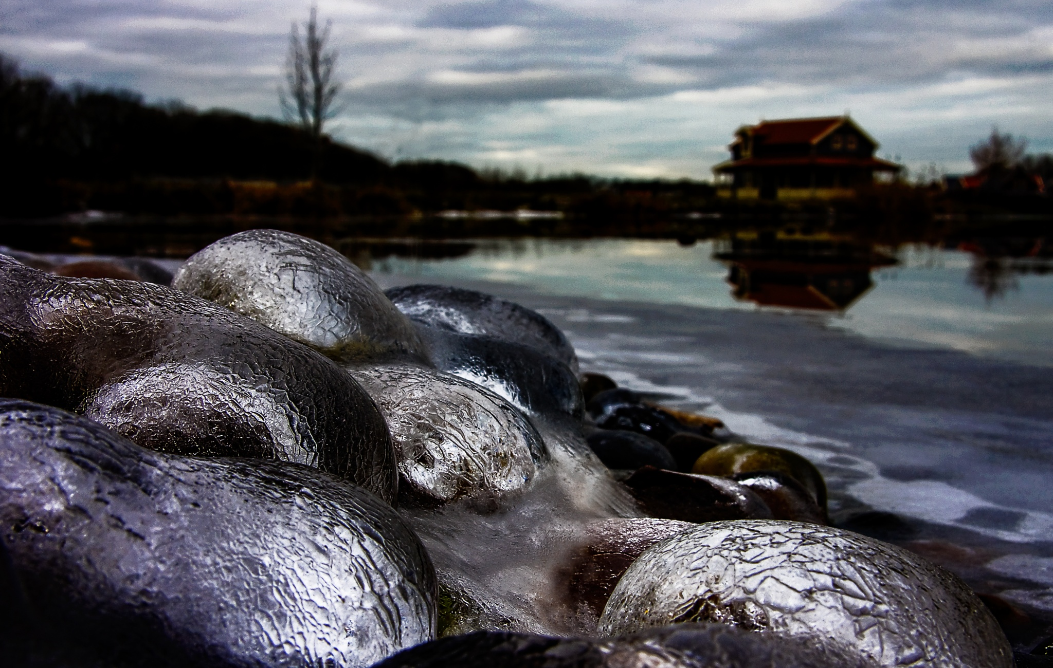 Frozen Pebbles by Vogala