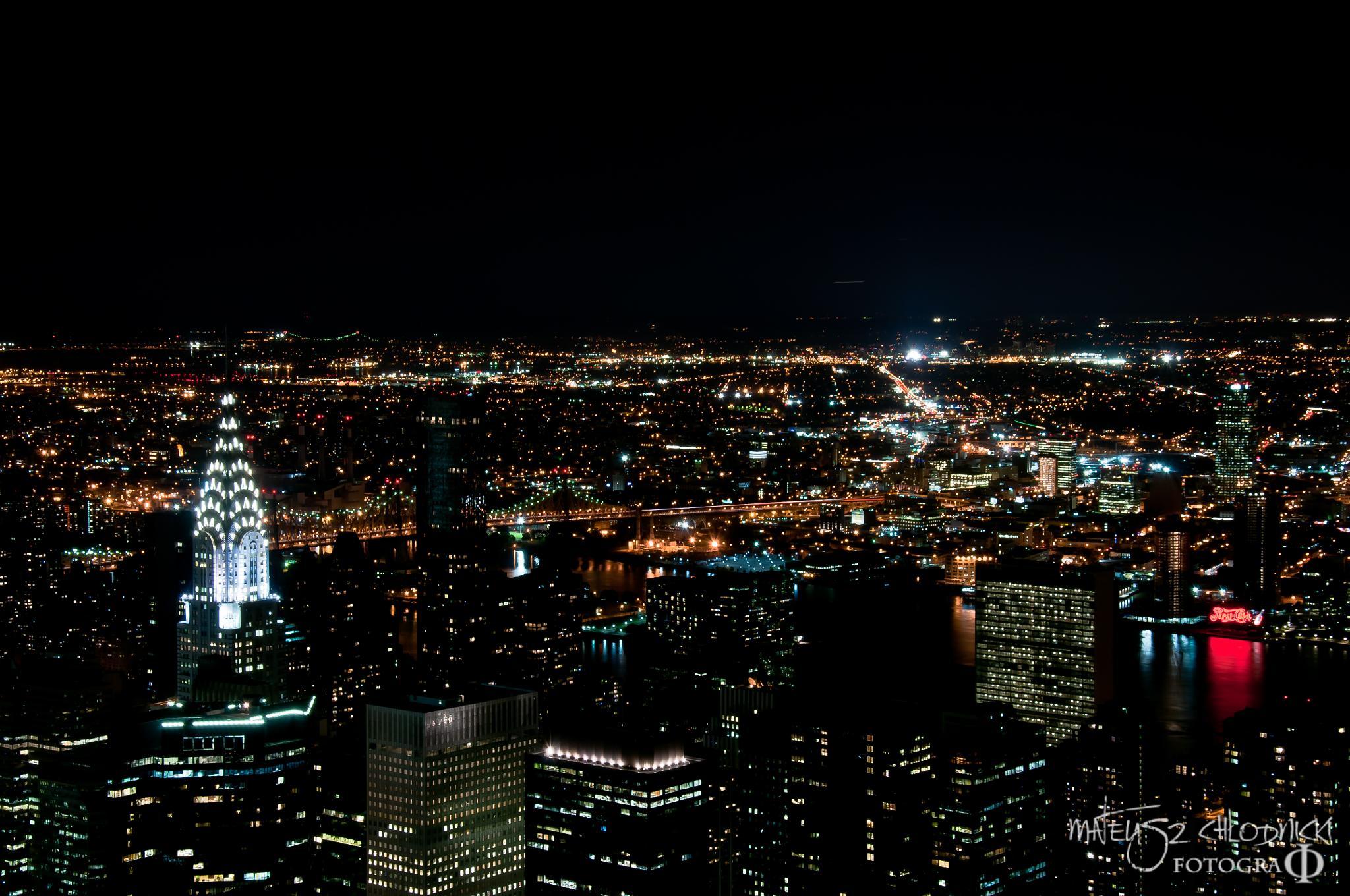NYC by night by Matt Chlodnicki