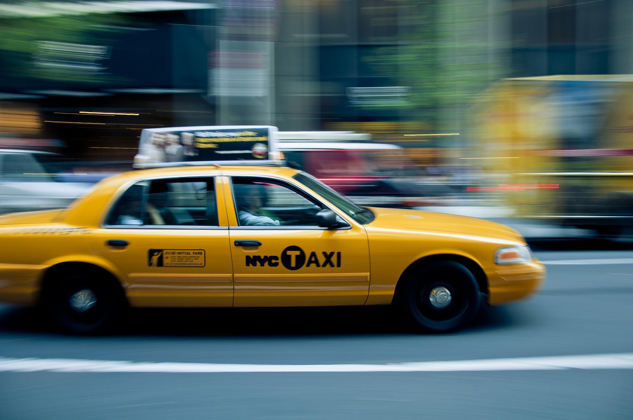 Yellow cab by Matt Chlodnicki