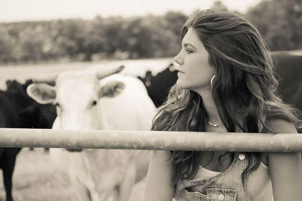 Just me and my cows by Dawne Matthews Jensen