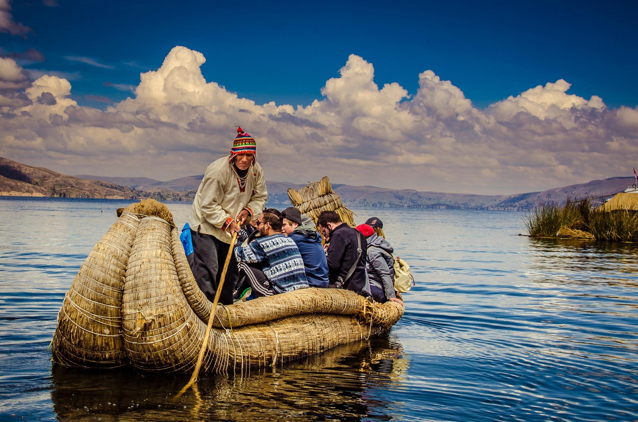 Reed Boat Lake Titicaca by Trevor McKinnon