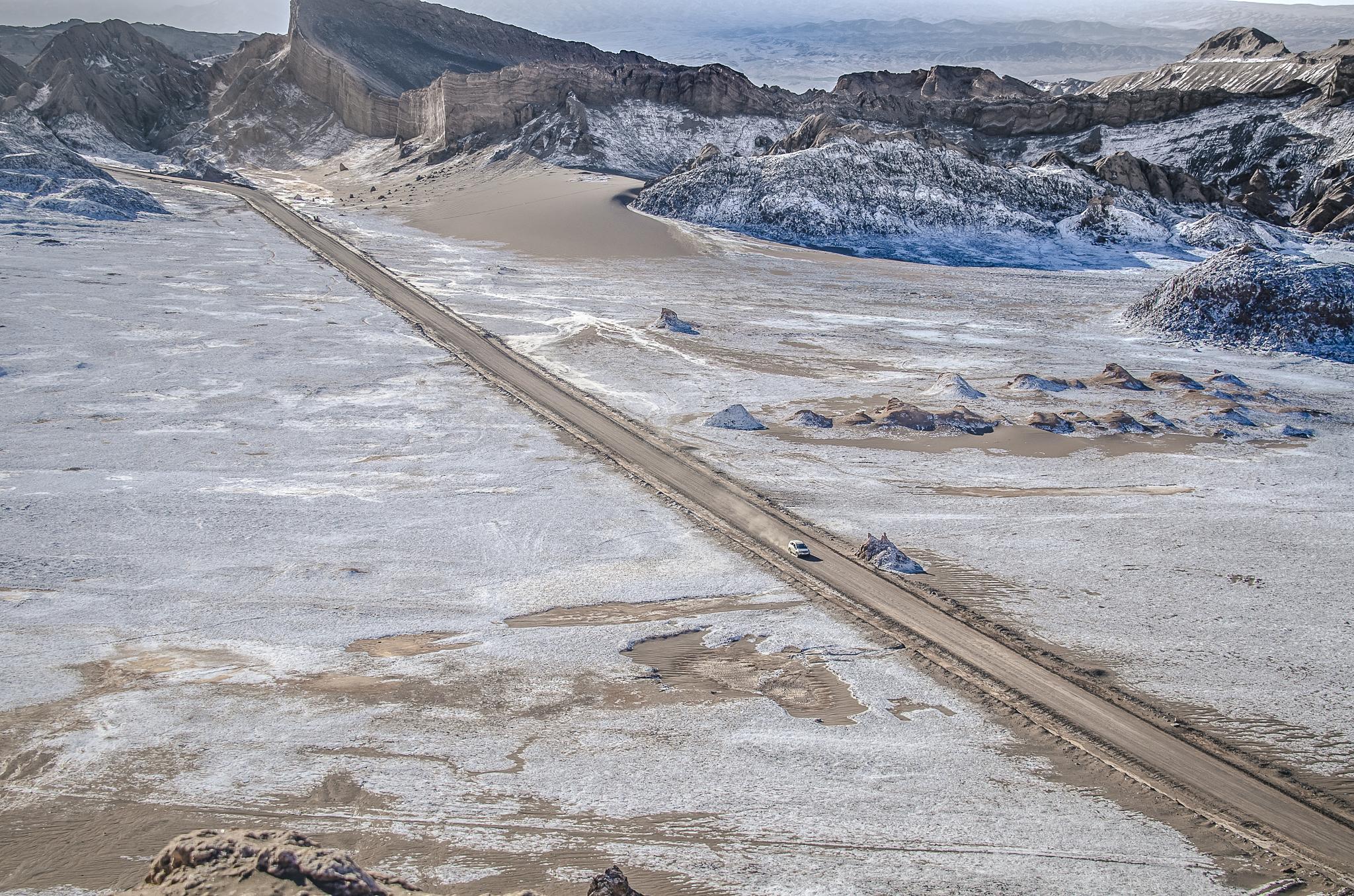 Salt crusted desert by Trevor McKinnon