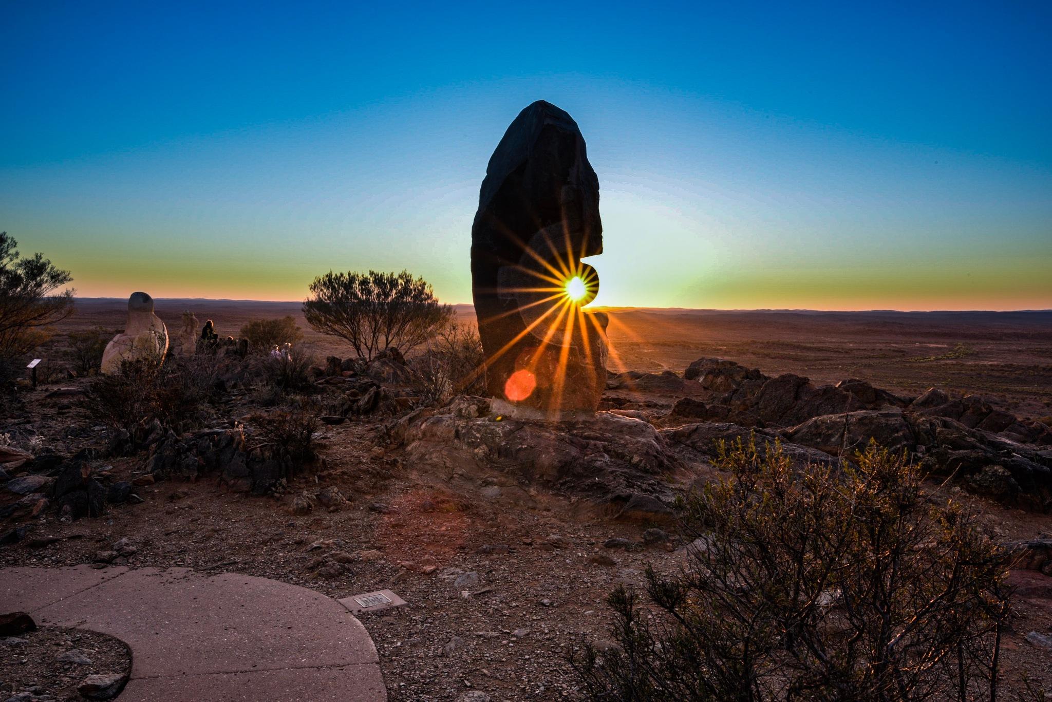 Sunflare through the living sculptures exhibition at Broken Hill by Trevor McKinnon