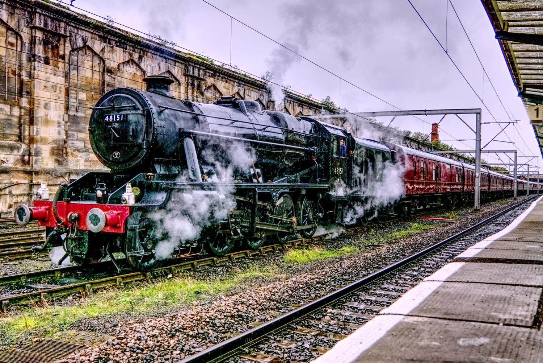 Loco 48151 at Carlisle by tpthornton