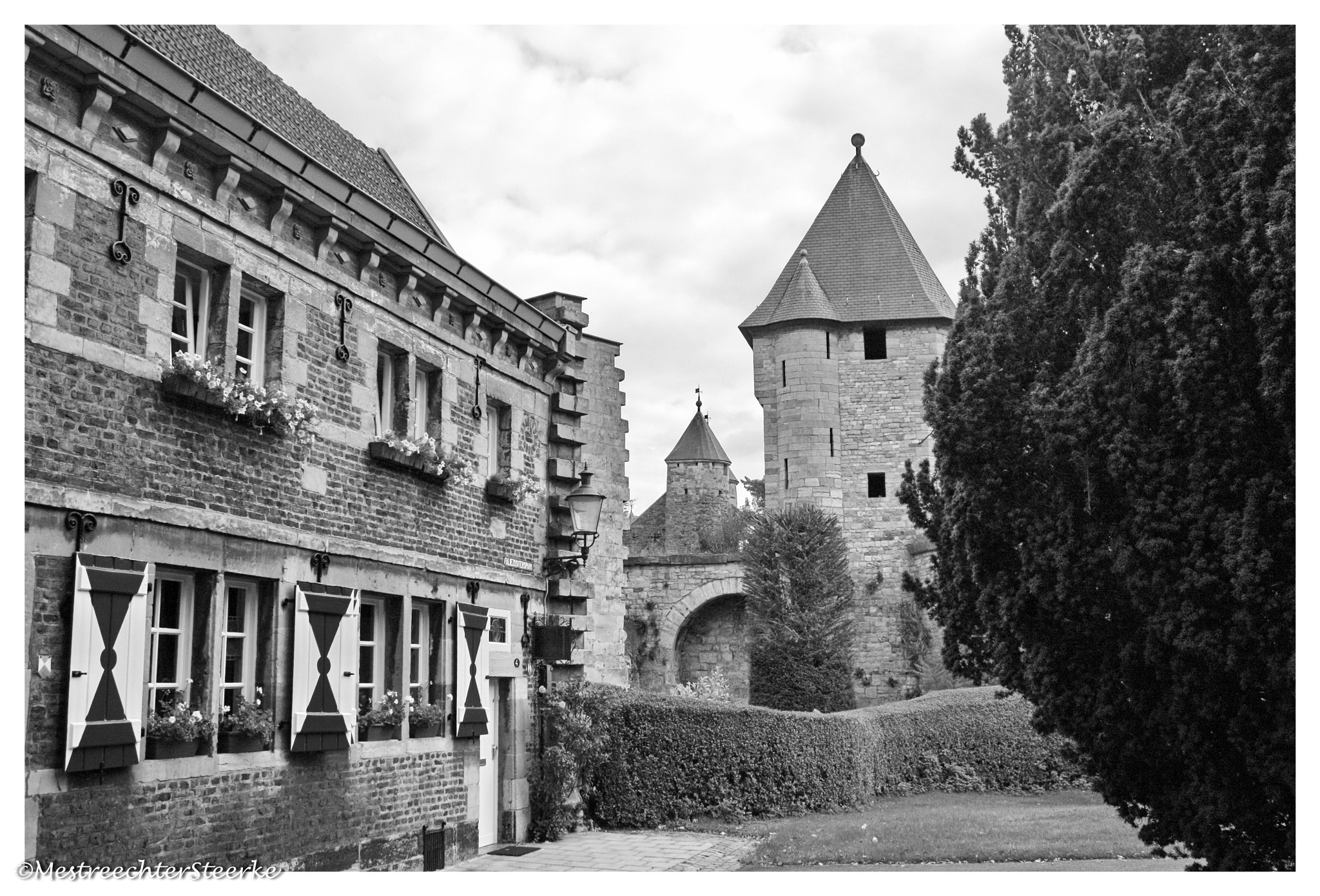 Monastery and Towers by John Kerkhofs