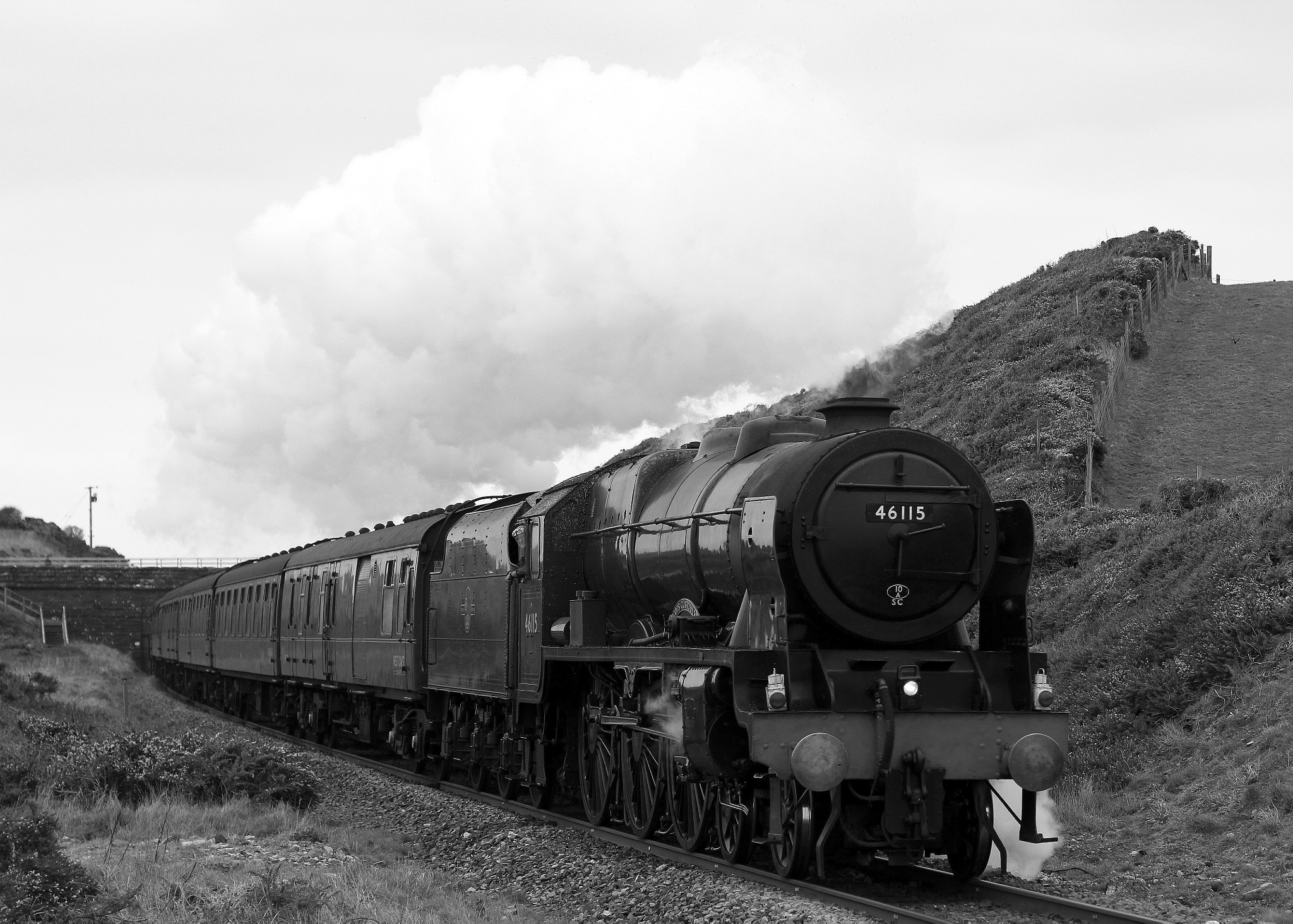 Black and white steam by Mark Egdell