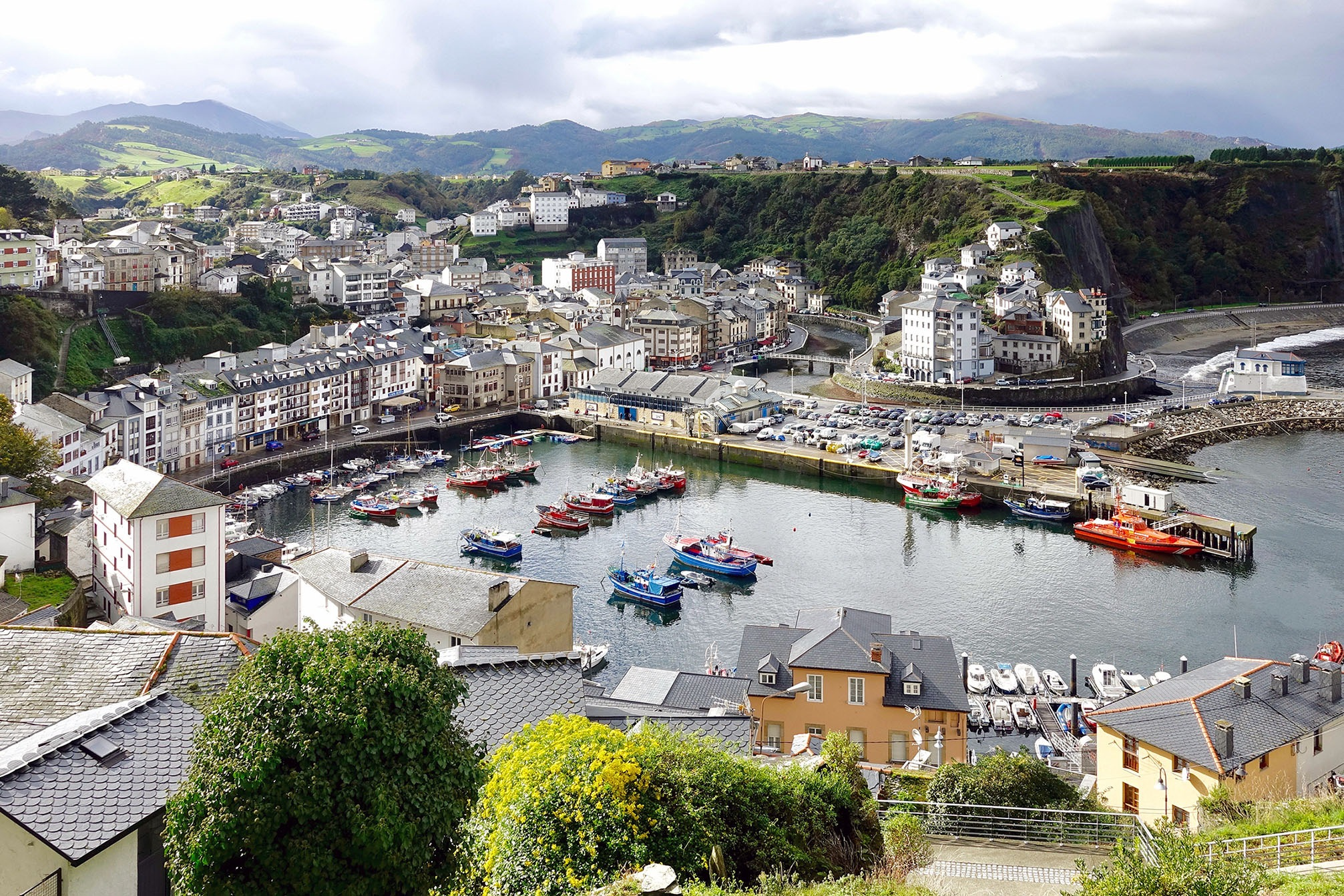The fishing city of Luarca in Spain. by Erwin Widmer