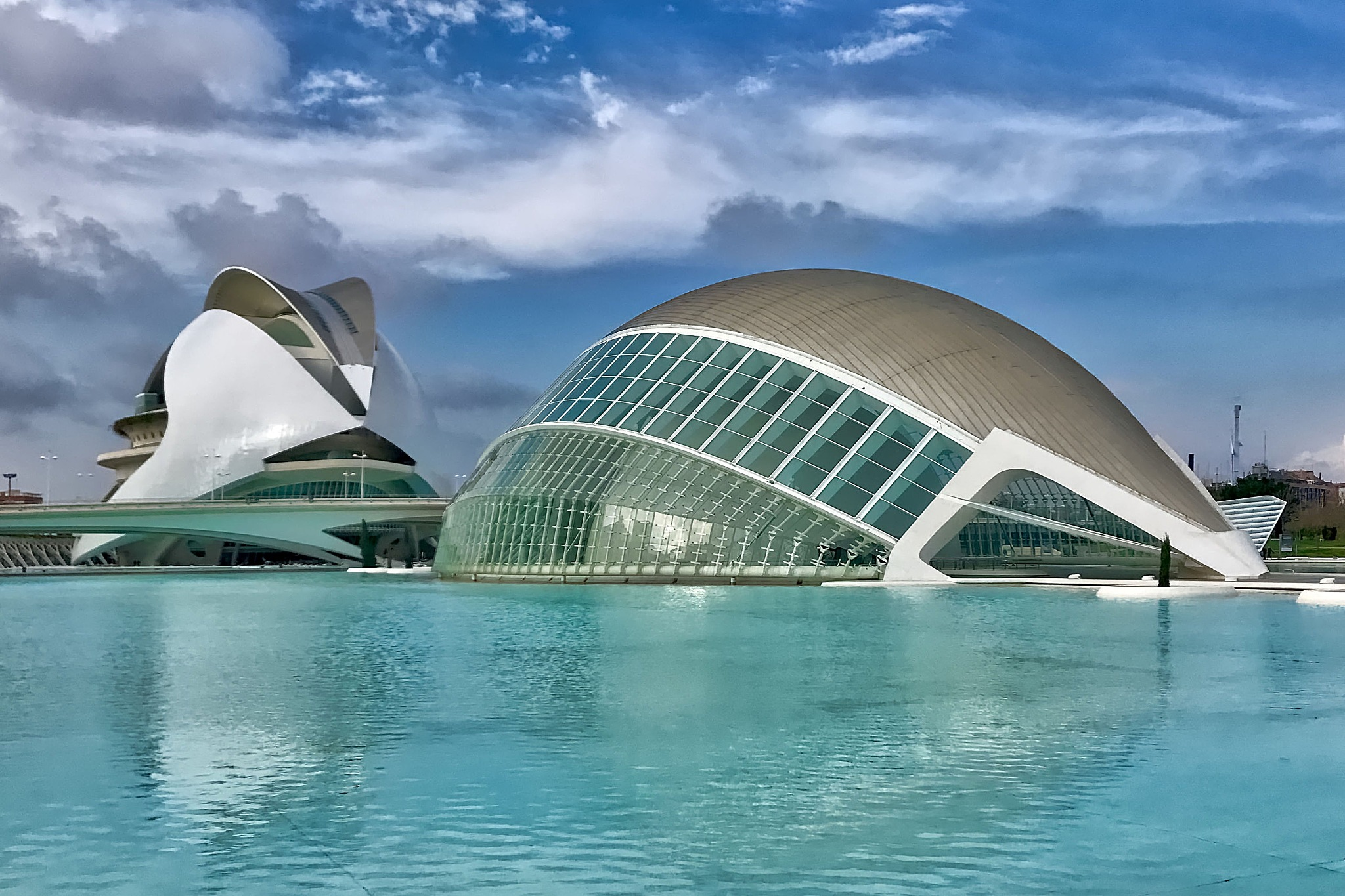 Science and Art Museum at Valencia in Spain. by Erwin Widmer