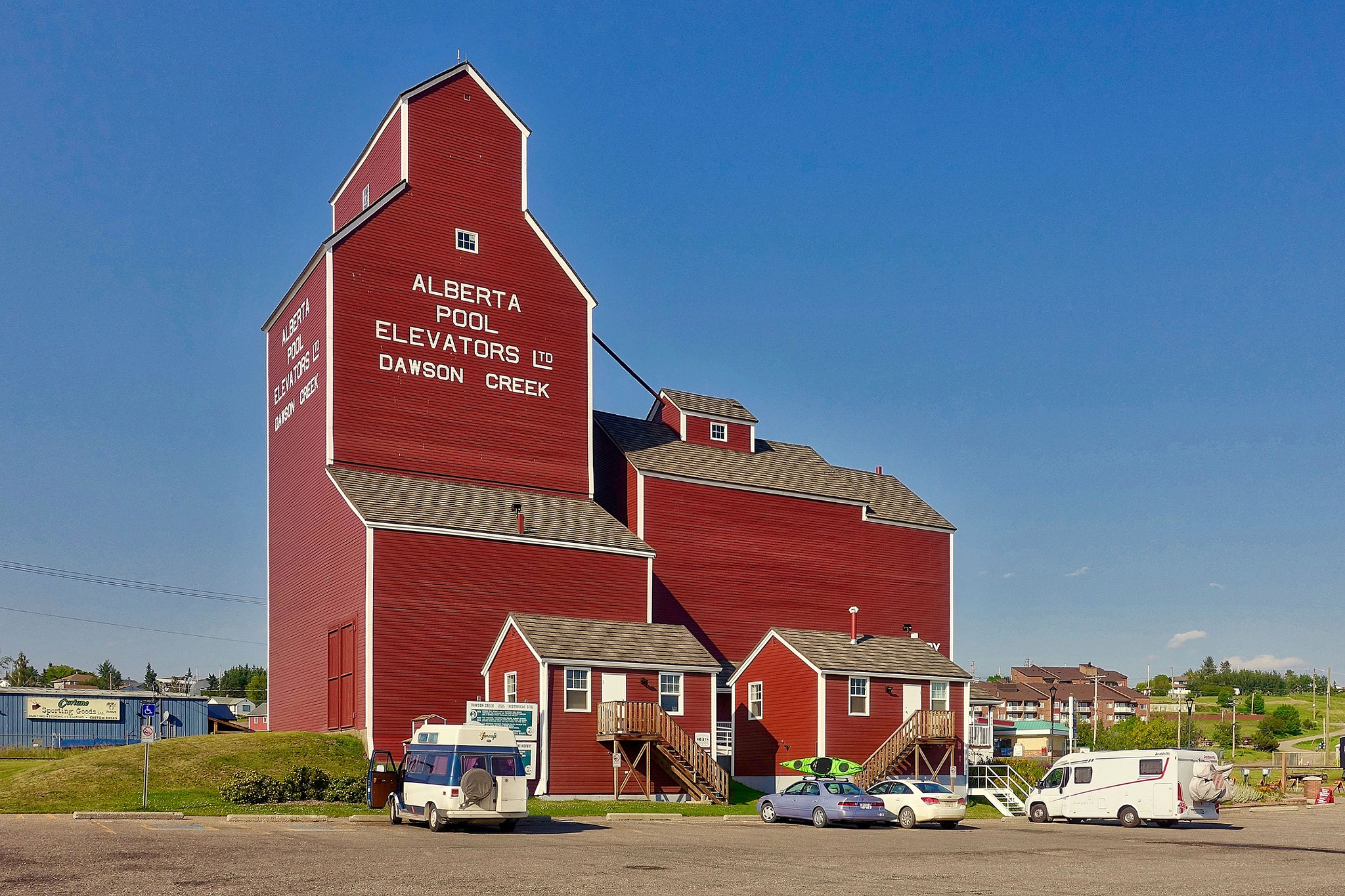 The grain elevator in Dawson Creek in Canada. by Erwin Widmer