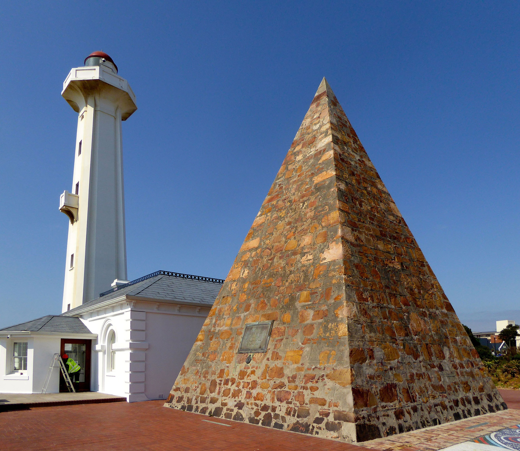Light house and Pyramid in Port Elizabeth, South Africa by Erwin Widmer