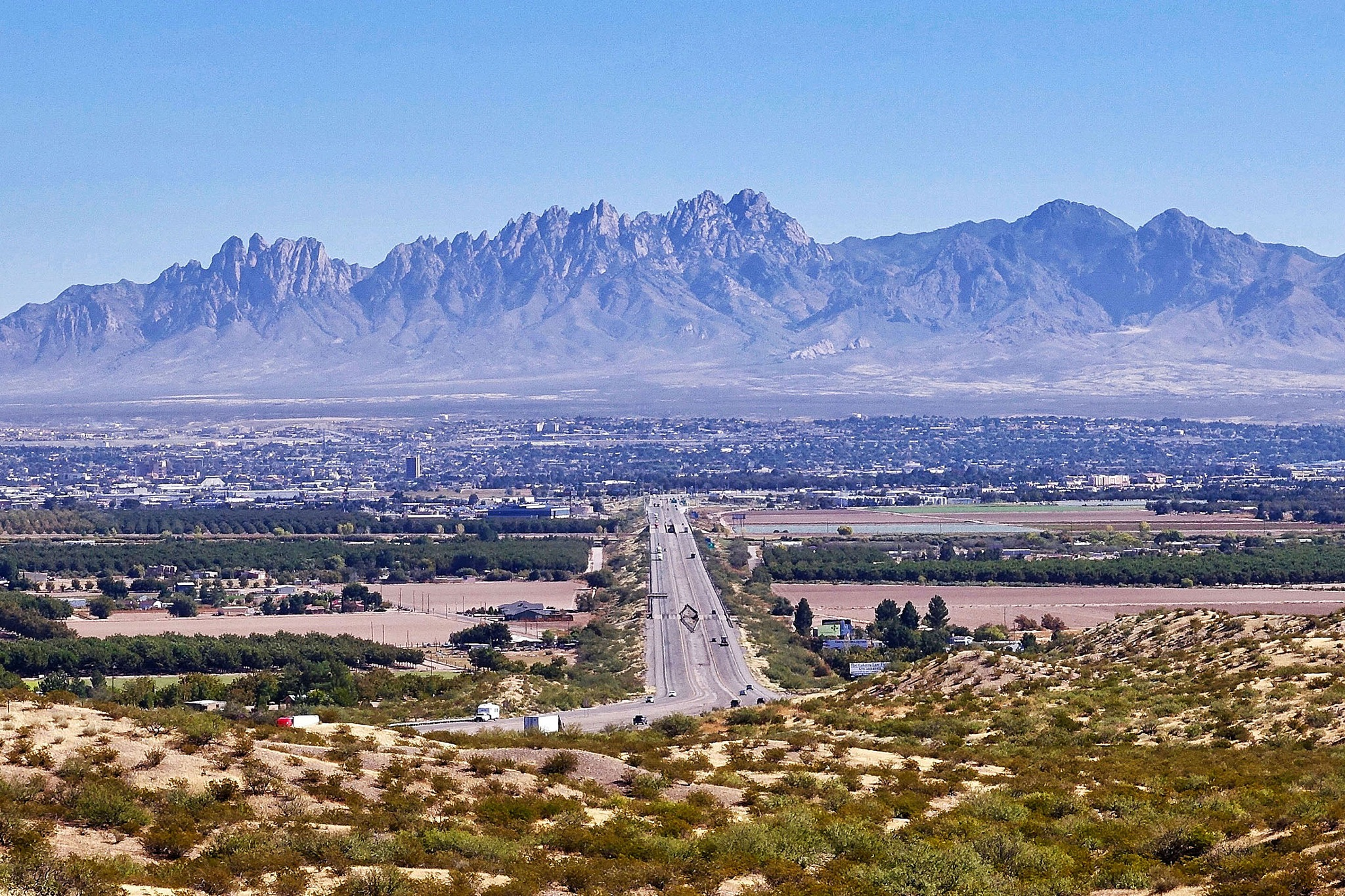 A view over Las Cruces and the Organ Mountains in the USA. by Erwin Widmer