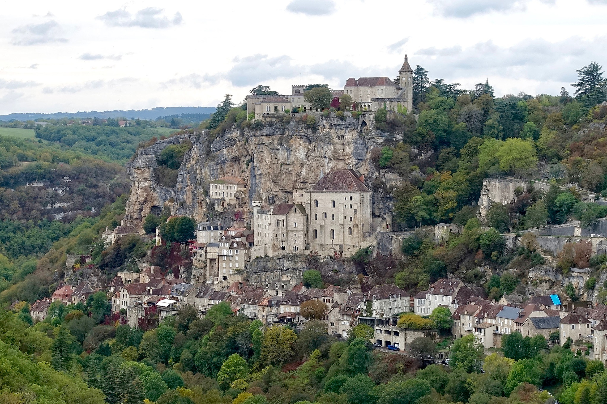 The city of Rocamadour in France. by Erwin Widmer
